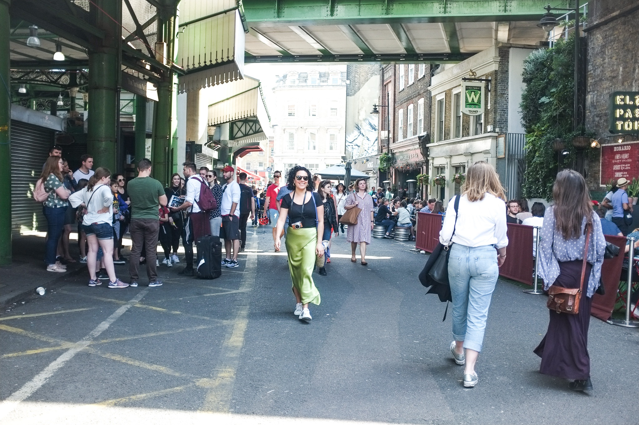 Having a wander through London's famous Borough Market