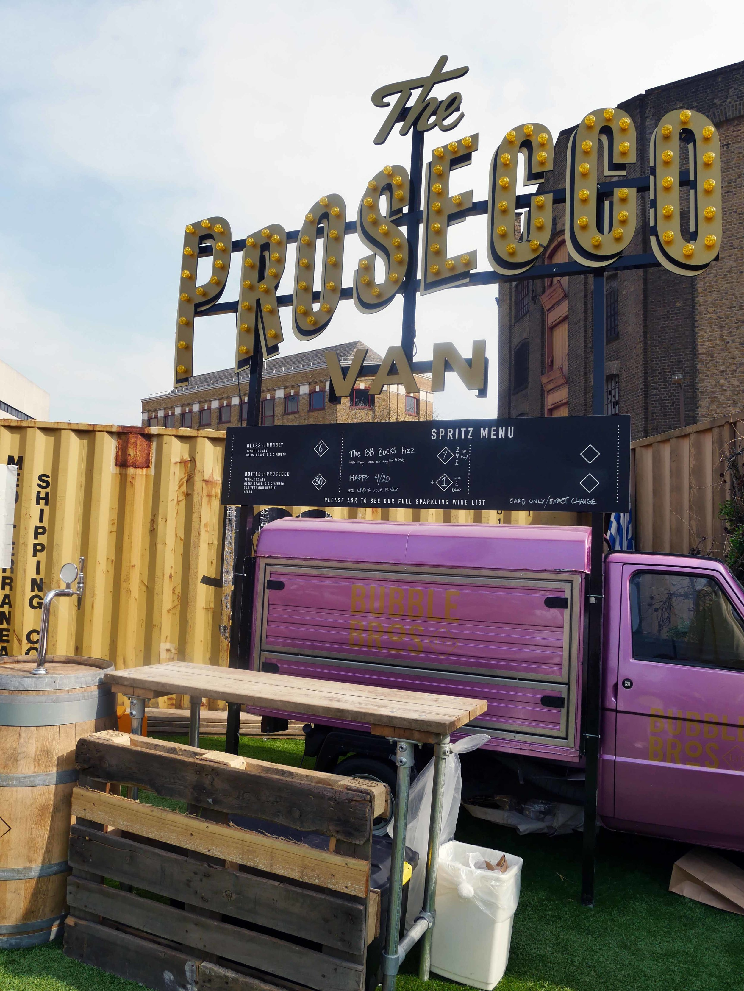 The Prosecco Van at Vinegar Yard, sign me up!