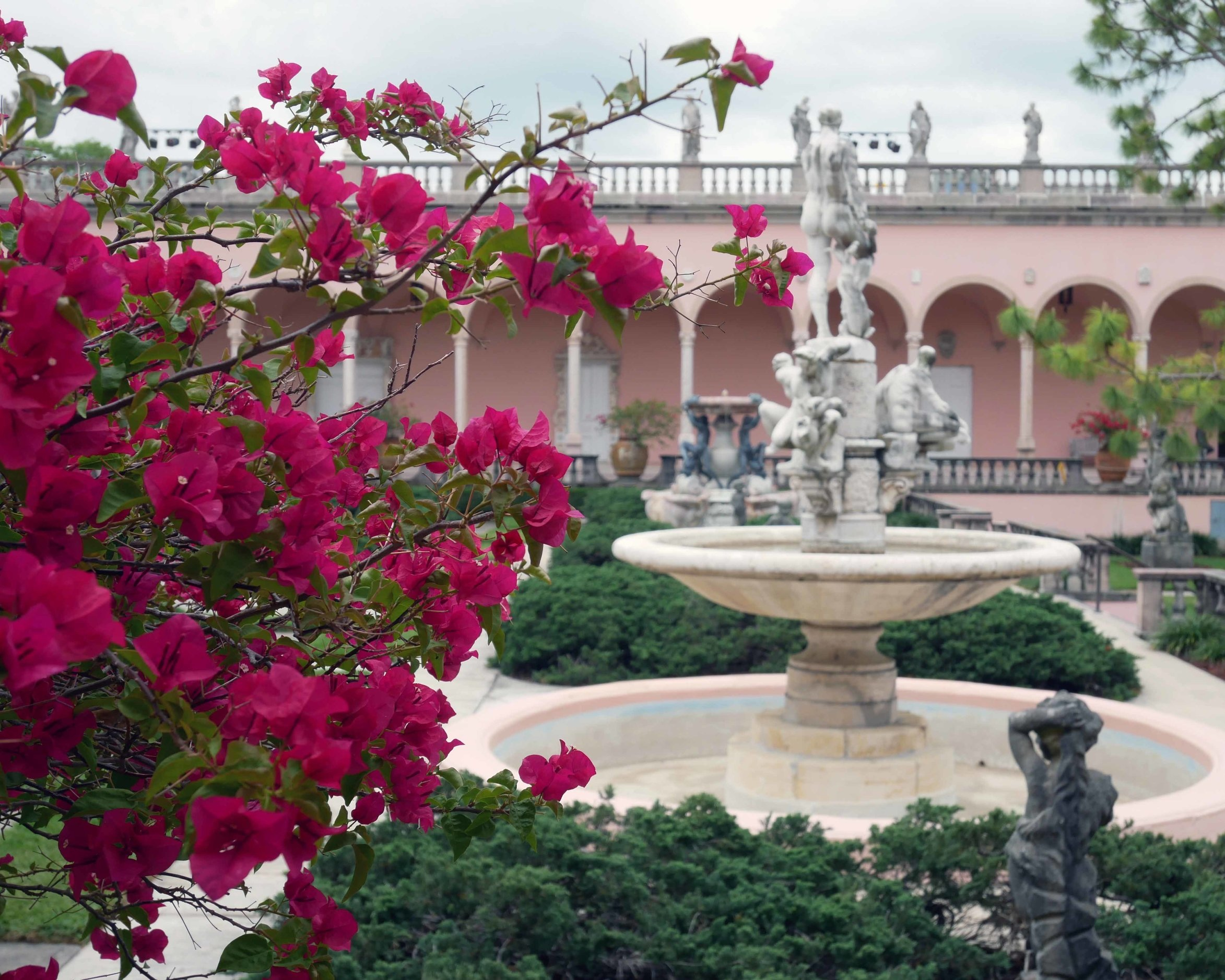 The beautiful grounds ar the Ringling Museum in Sarasota, Florida