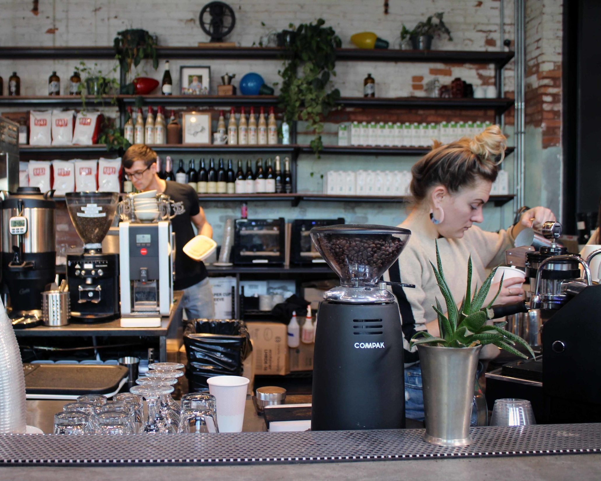 The baristas at work at Union, By Commune and Co. in Armature Works