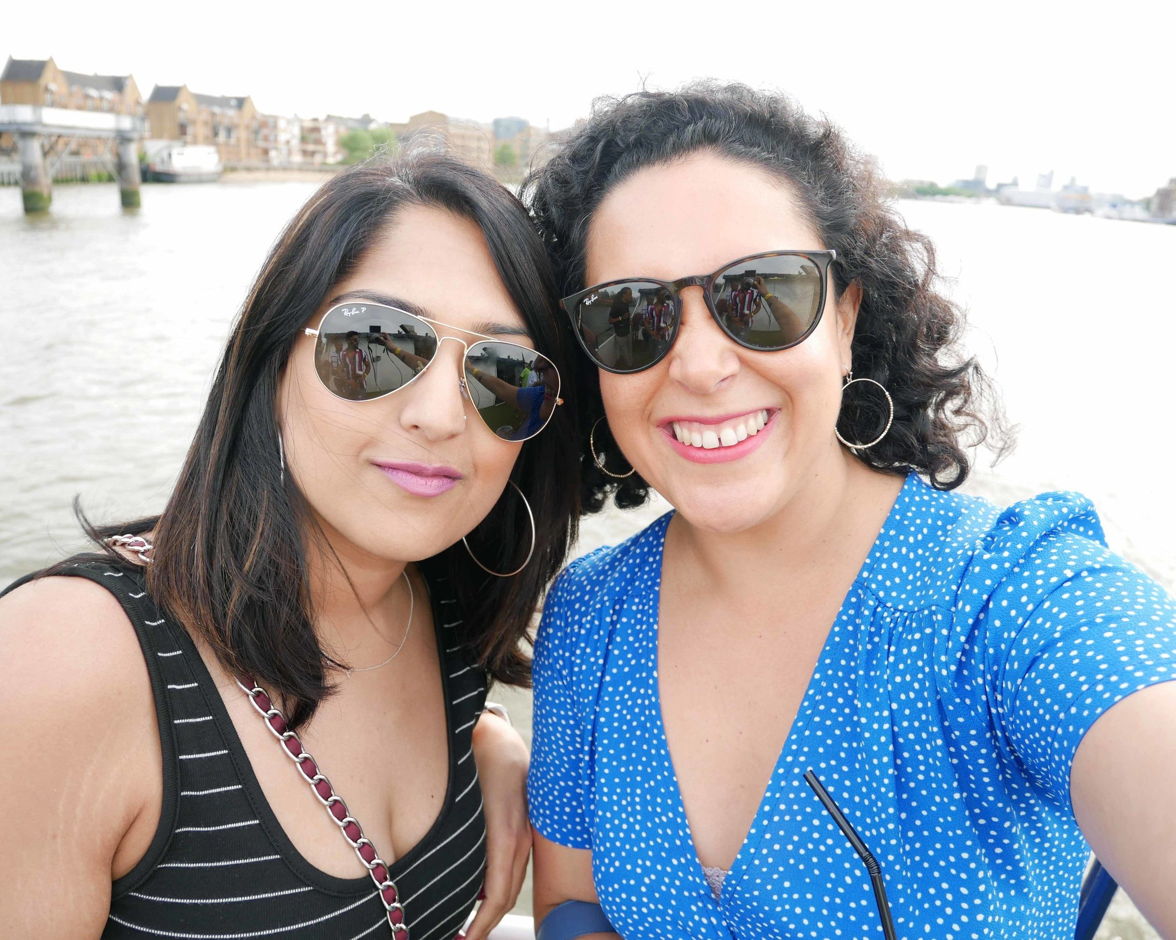 Partying, London boat party style , with my girl Natasha