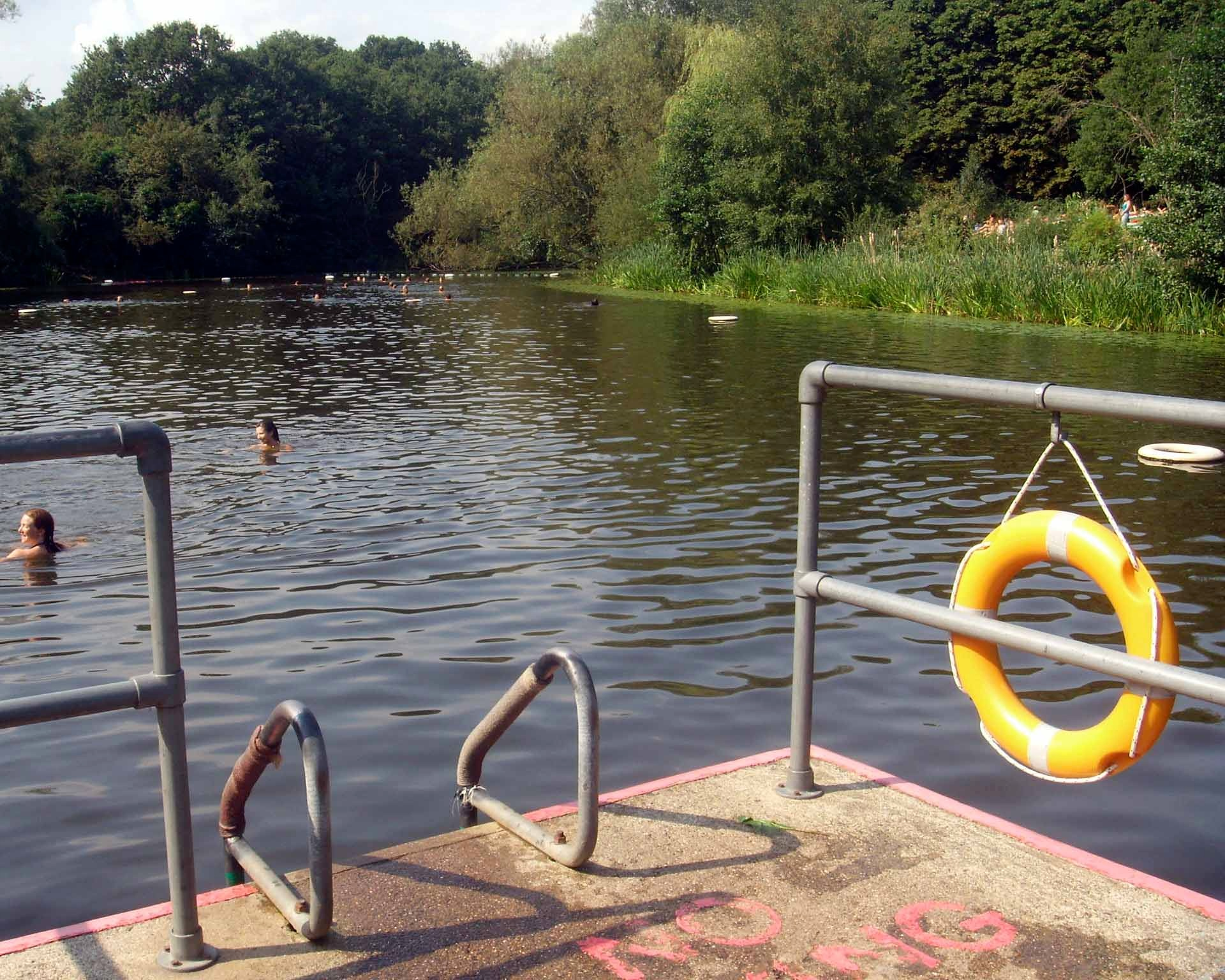 The docks at Hampstead Heath's Swimming Ponds
