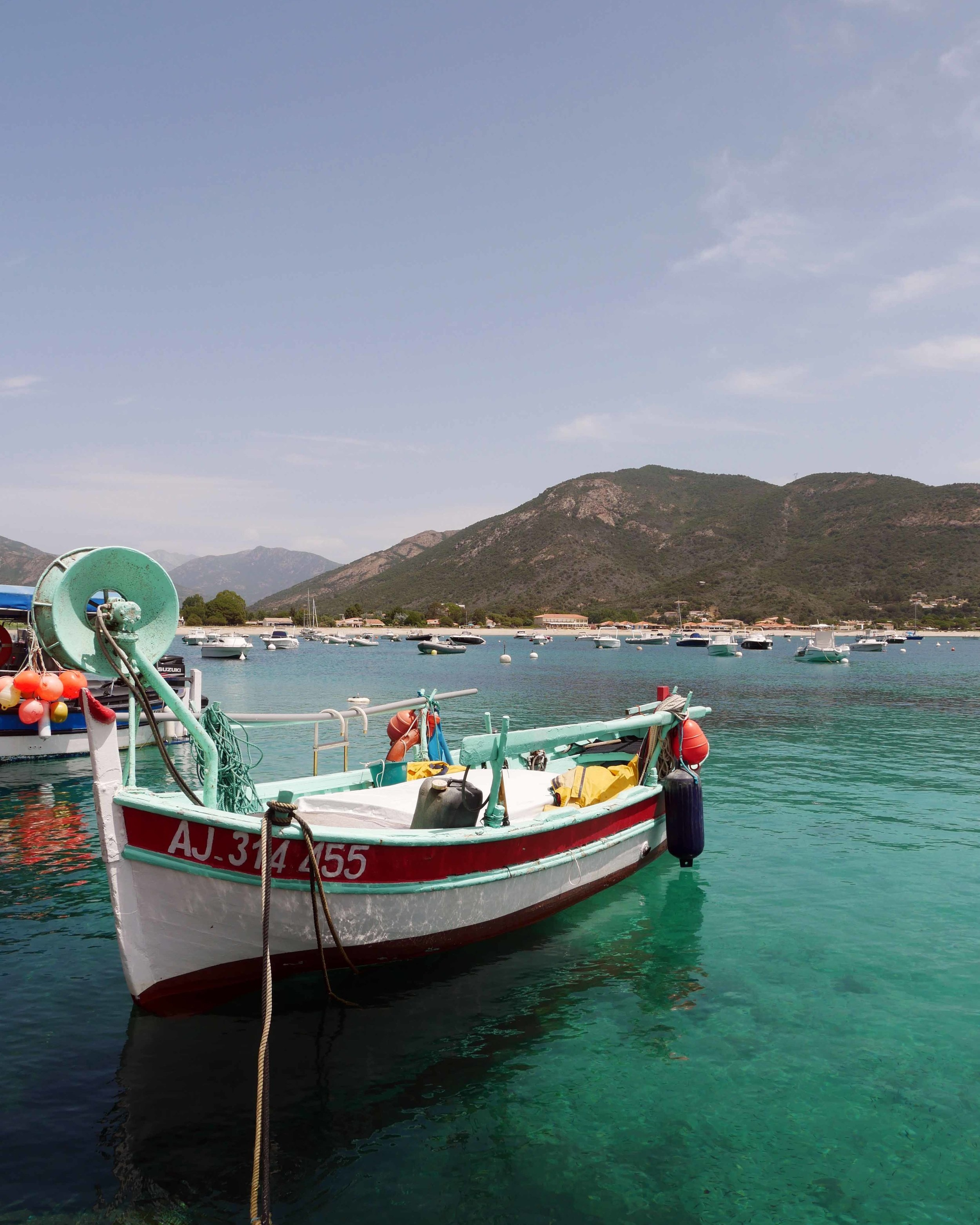 Taking a boat trip from Sagone, Corsica where the waters are bluer than blue