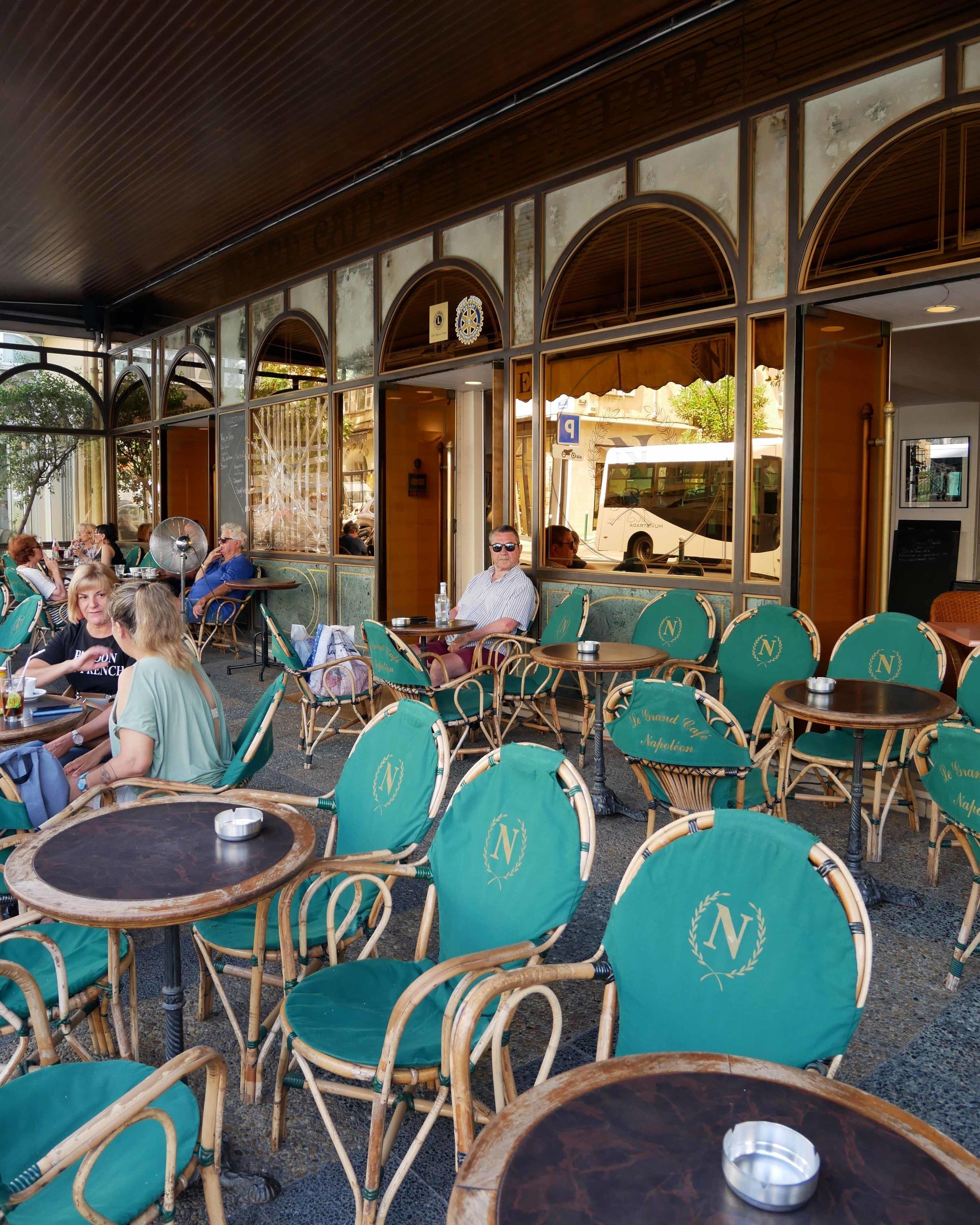 A café in Ajaccio Old Town, Corsica