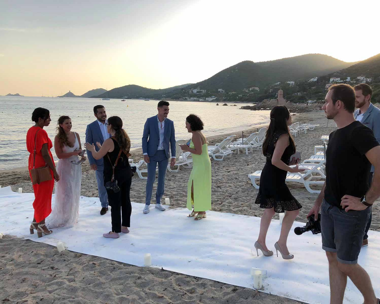 Corsica is not a shabby place for a white wedding, hey?