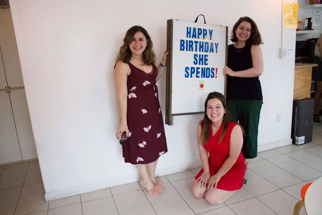 Amanda, Alicia and Jemma at She Spends' birthday bash.