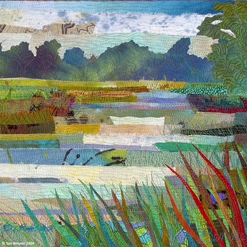 Marsh #17: River Bend  (detail)