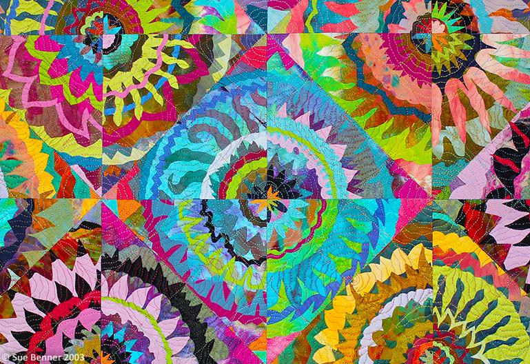 Flowers Cut Diagonally , detail