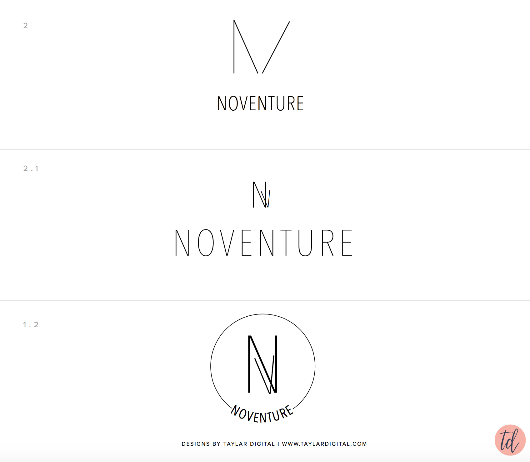 Noventure logo concepts