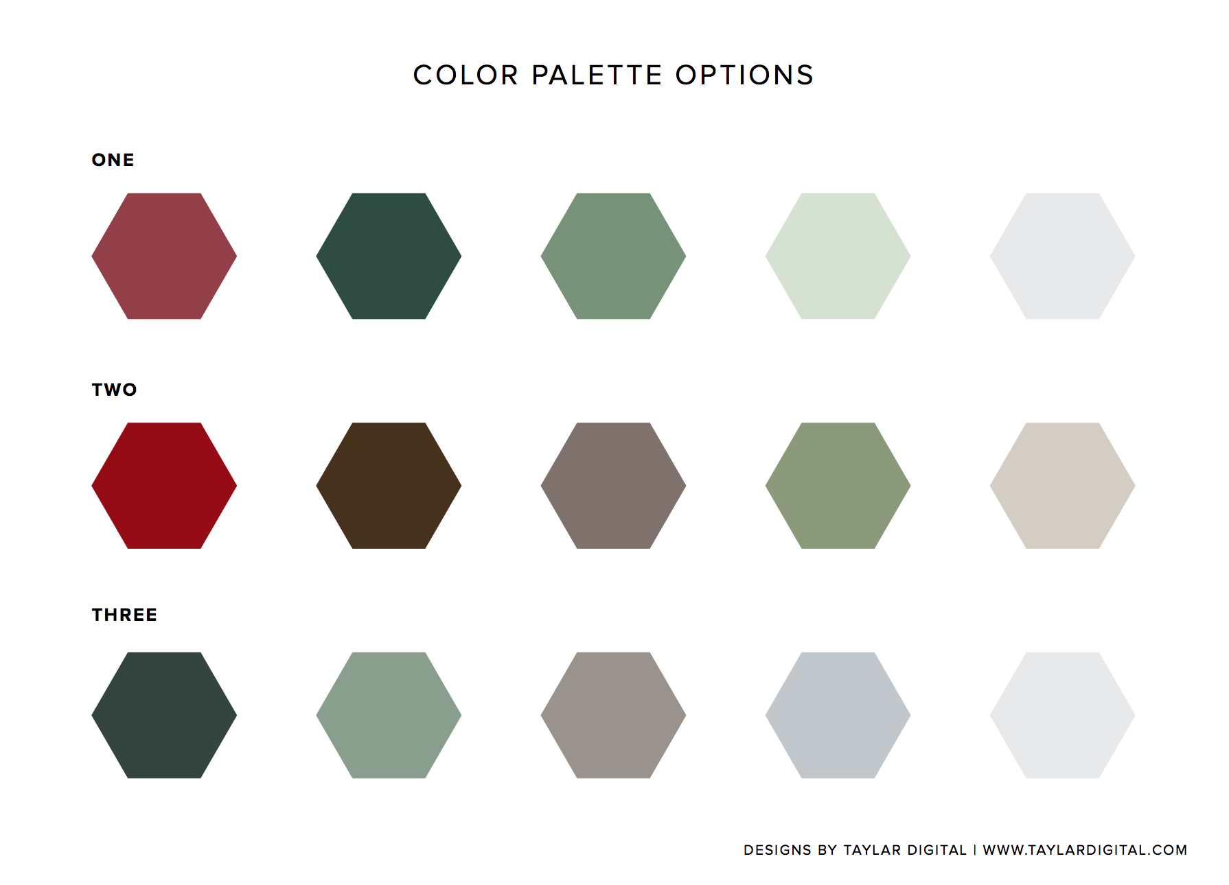 Branding color palette