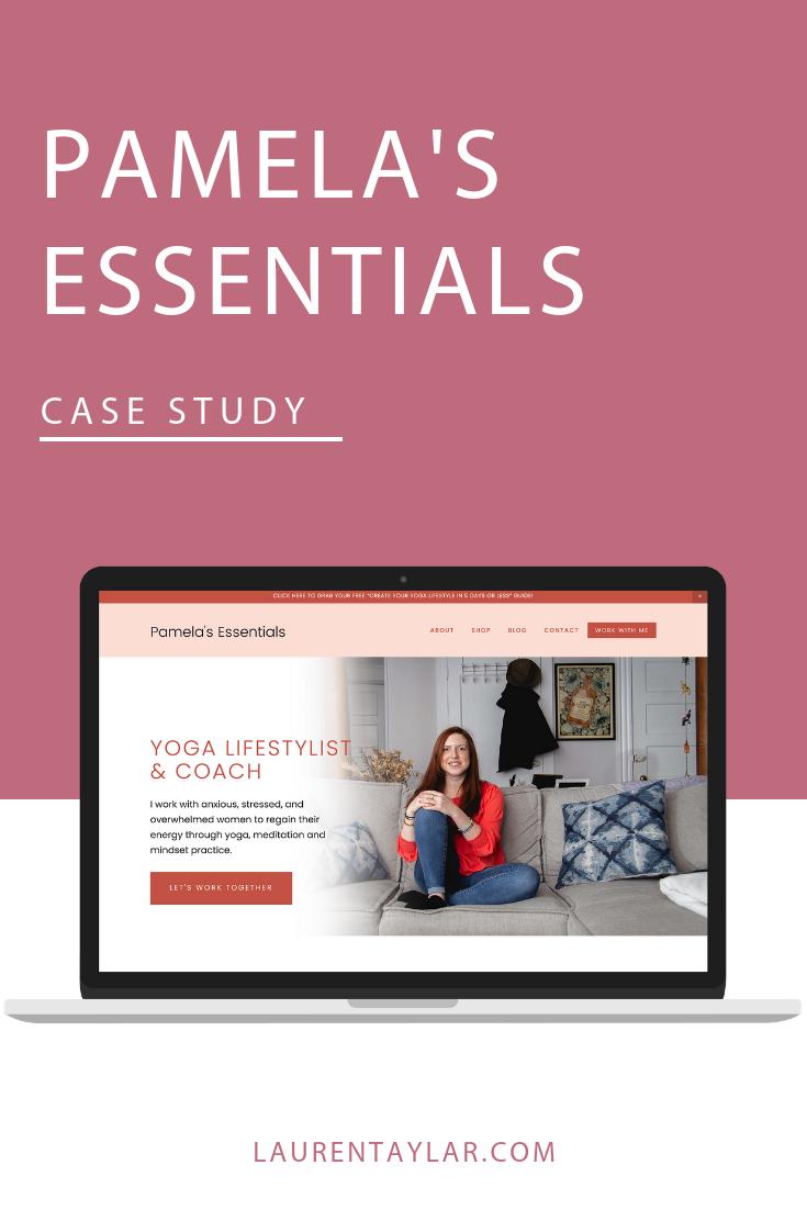 Pamela's Essentials Squarespace Website Design.png