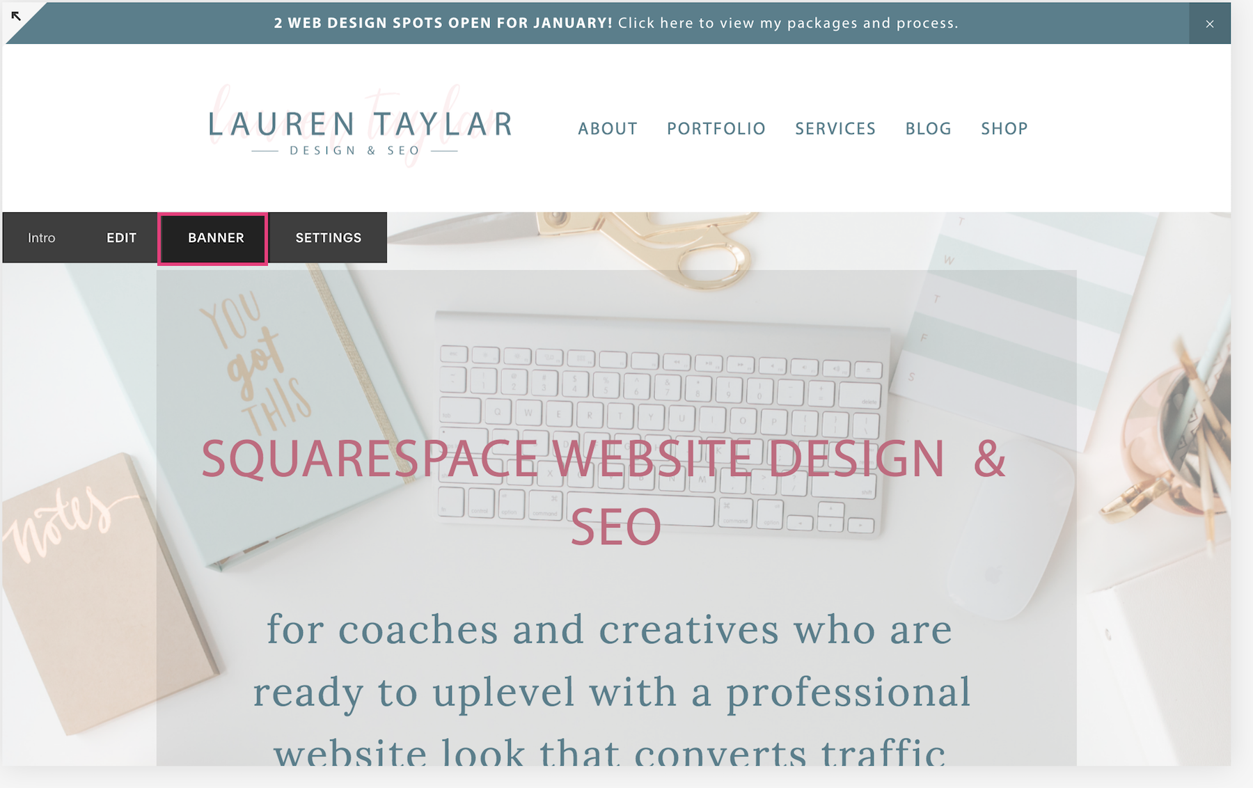 How To Format Upload A Squarespace Banner Image Lauren Taylar