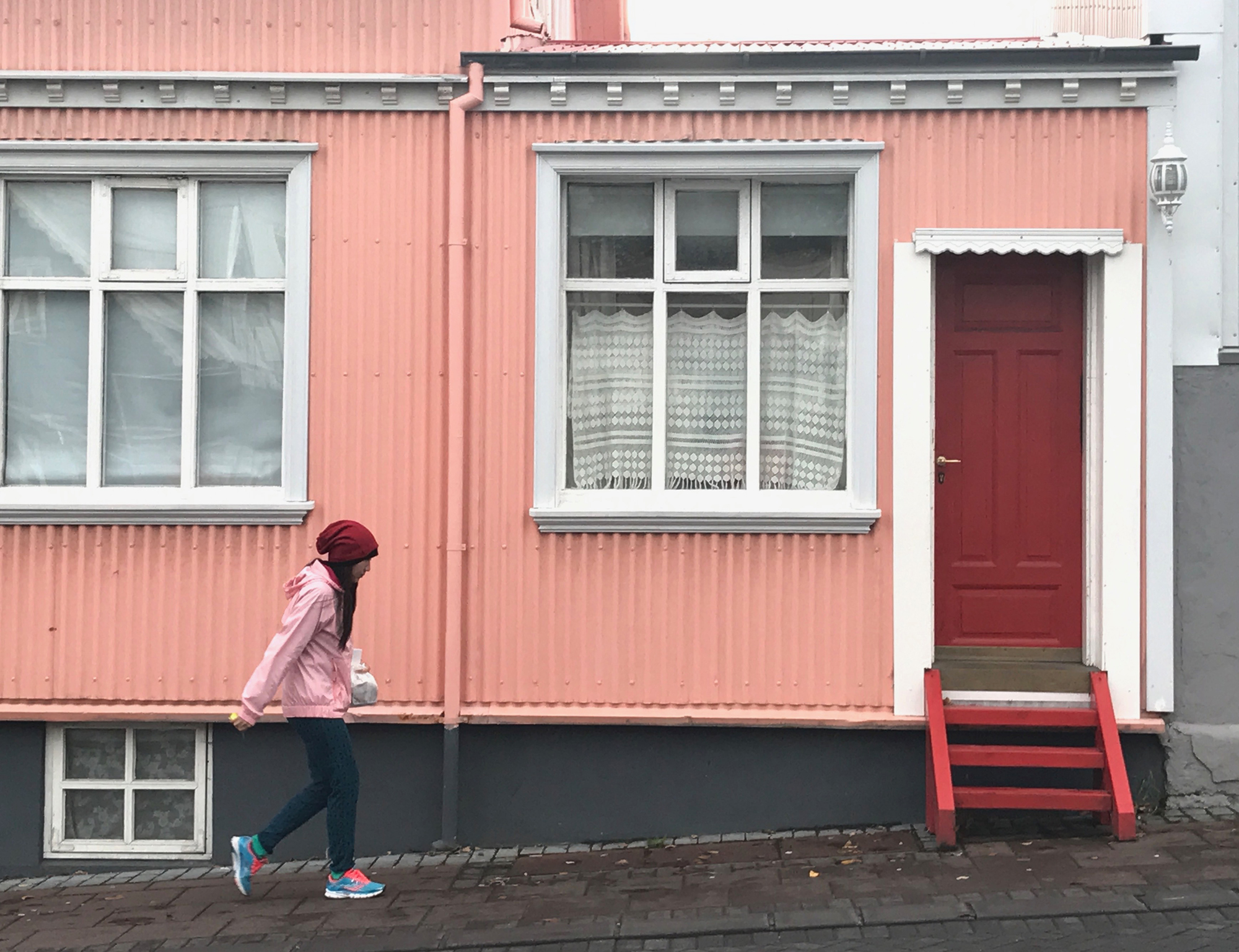 Pink, Red and Gray