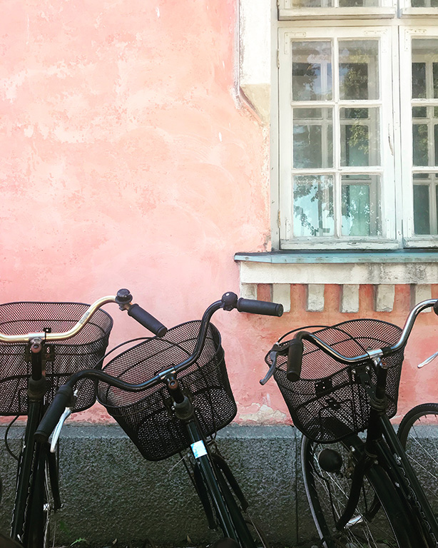 Pink Wall and Bikes
