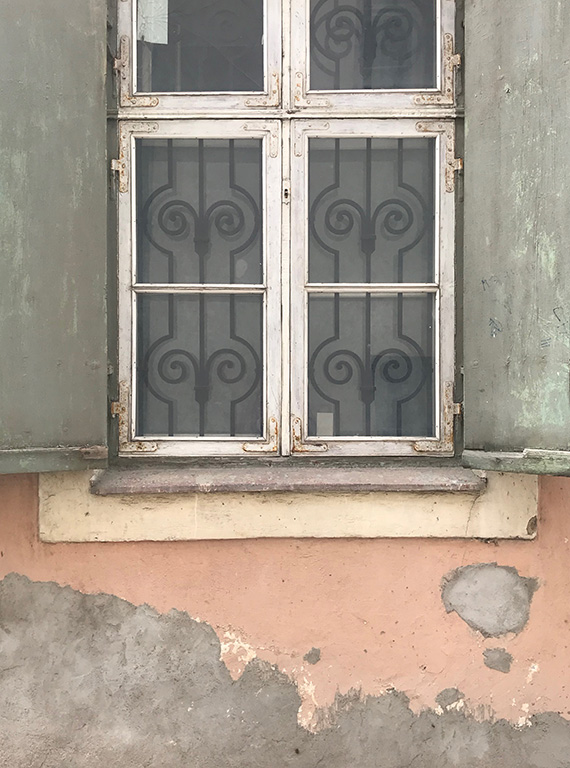 Pink Wall Gray Window