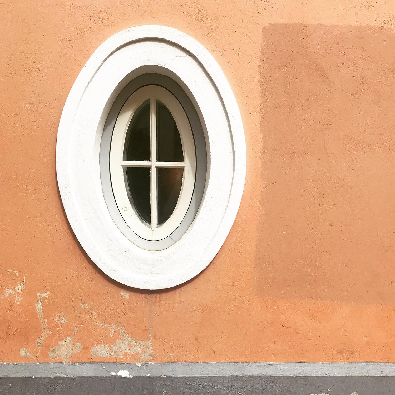 Peach Wall Oval Window