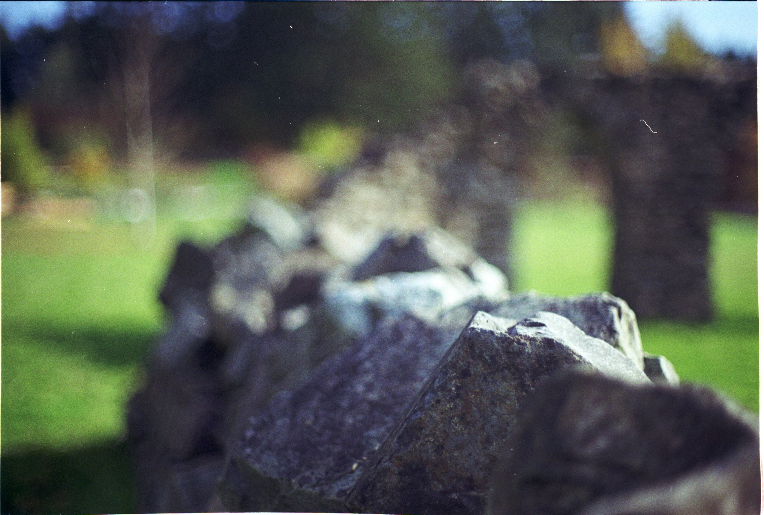 Dry stack, Stone wall, Gardens, Victoria, BC