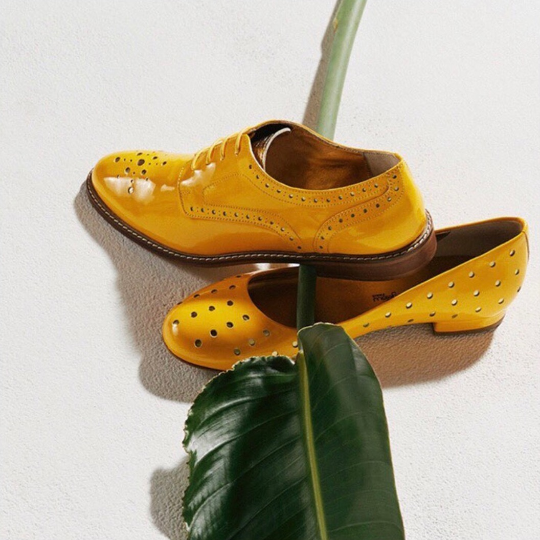 Mellow Yellow derbies and flats