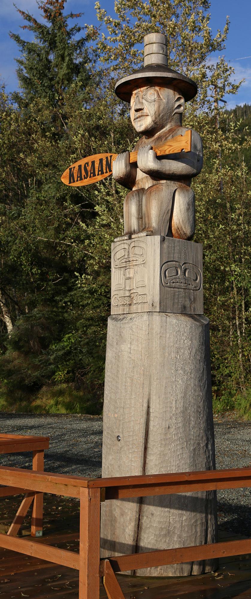 Kasaan Alaska harbor totem