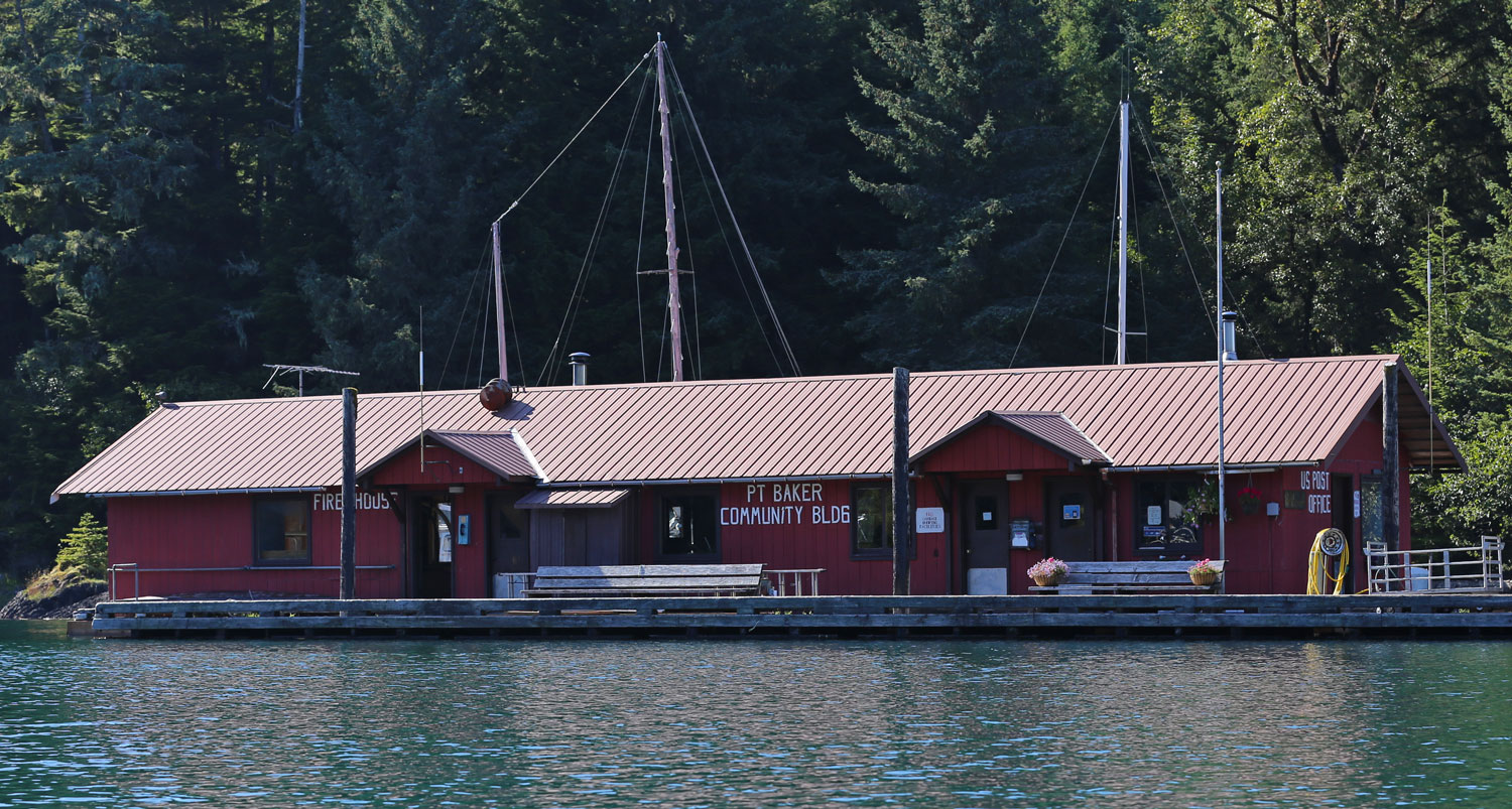 Point Baker Alaska Floating Post Office and Community Building