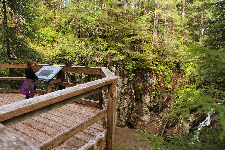 Beaver Falls Karst Trail boardwalk sinkholes Prince of Wales Island Southeast Alaska