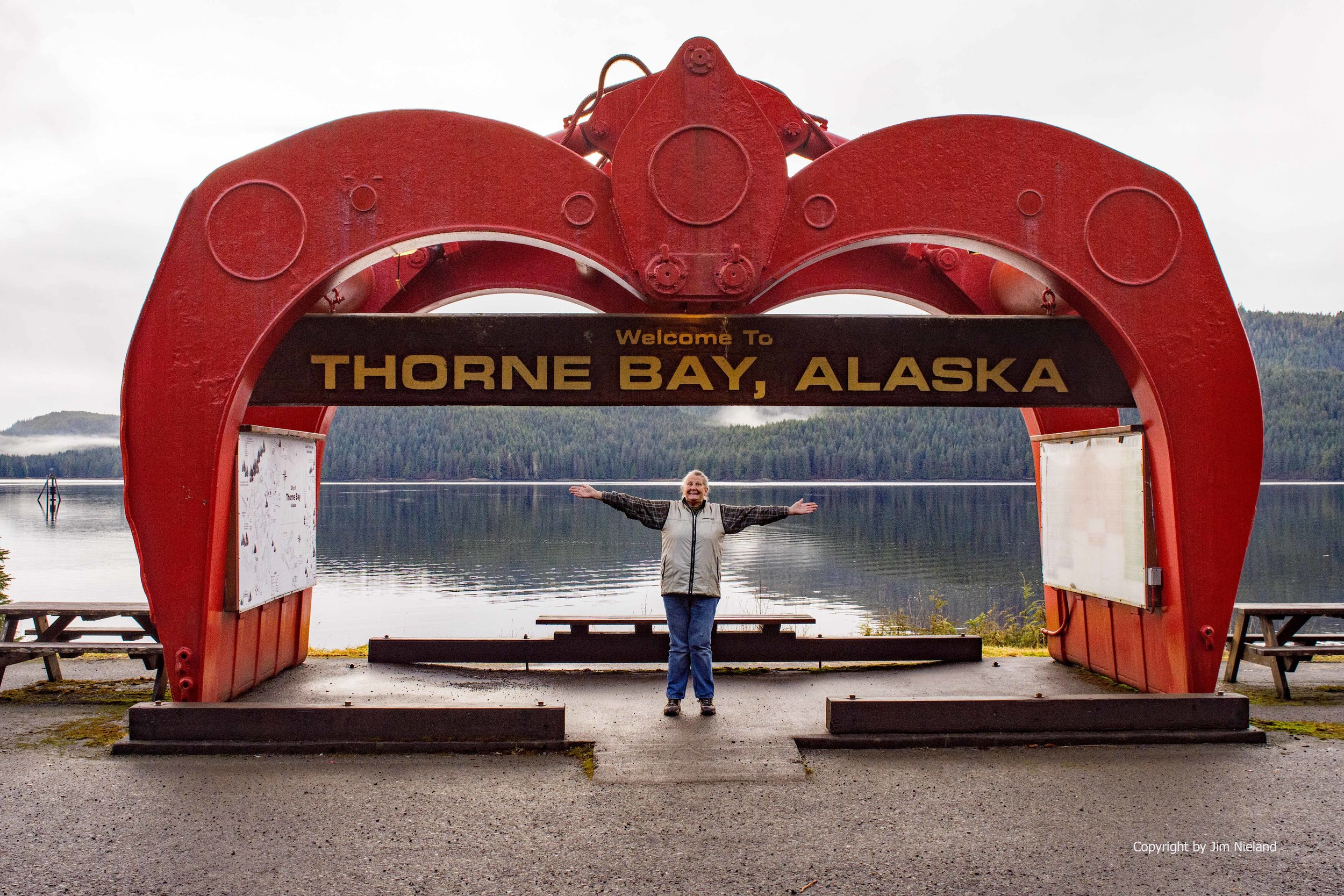 Travel to Thorne Bay logging grapple claw Prince of Wales Island Southeast Alaska