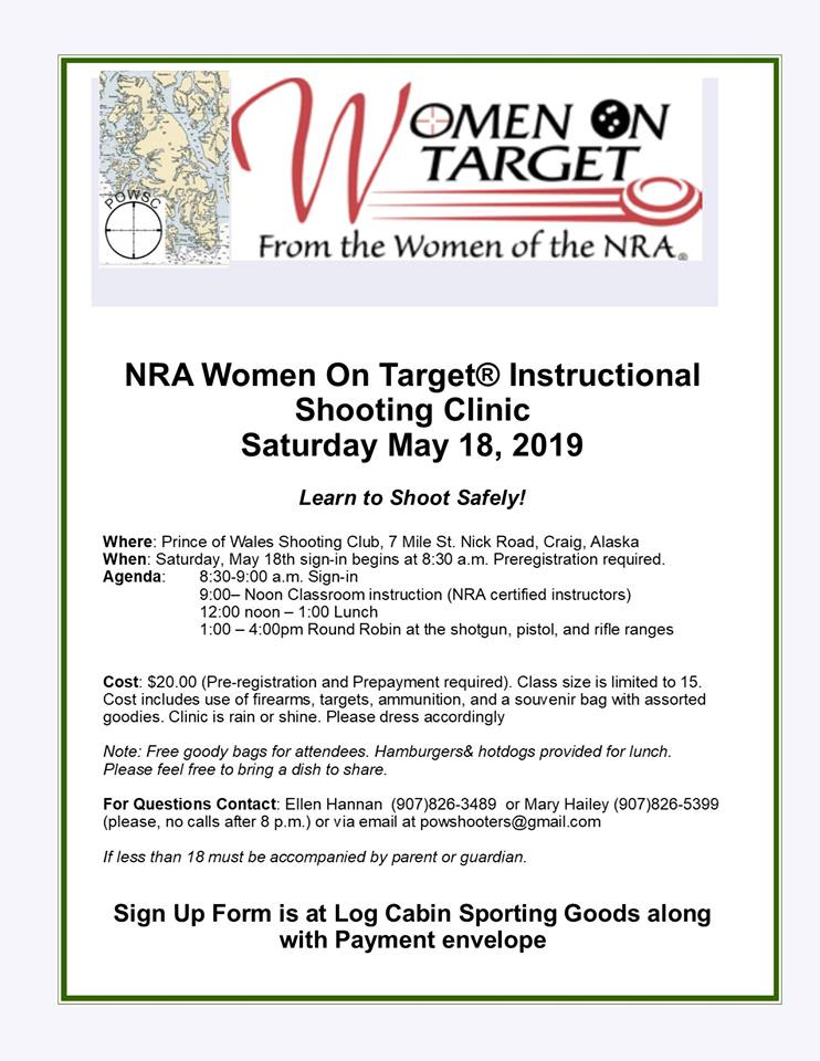 Women on Target event Prince of Wales Island Alaska