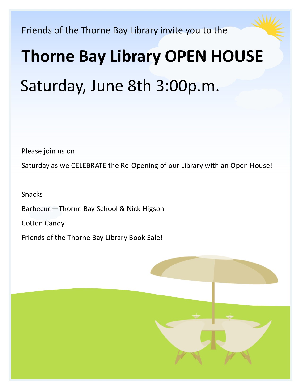 Thorne Bay Library Open House