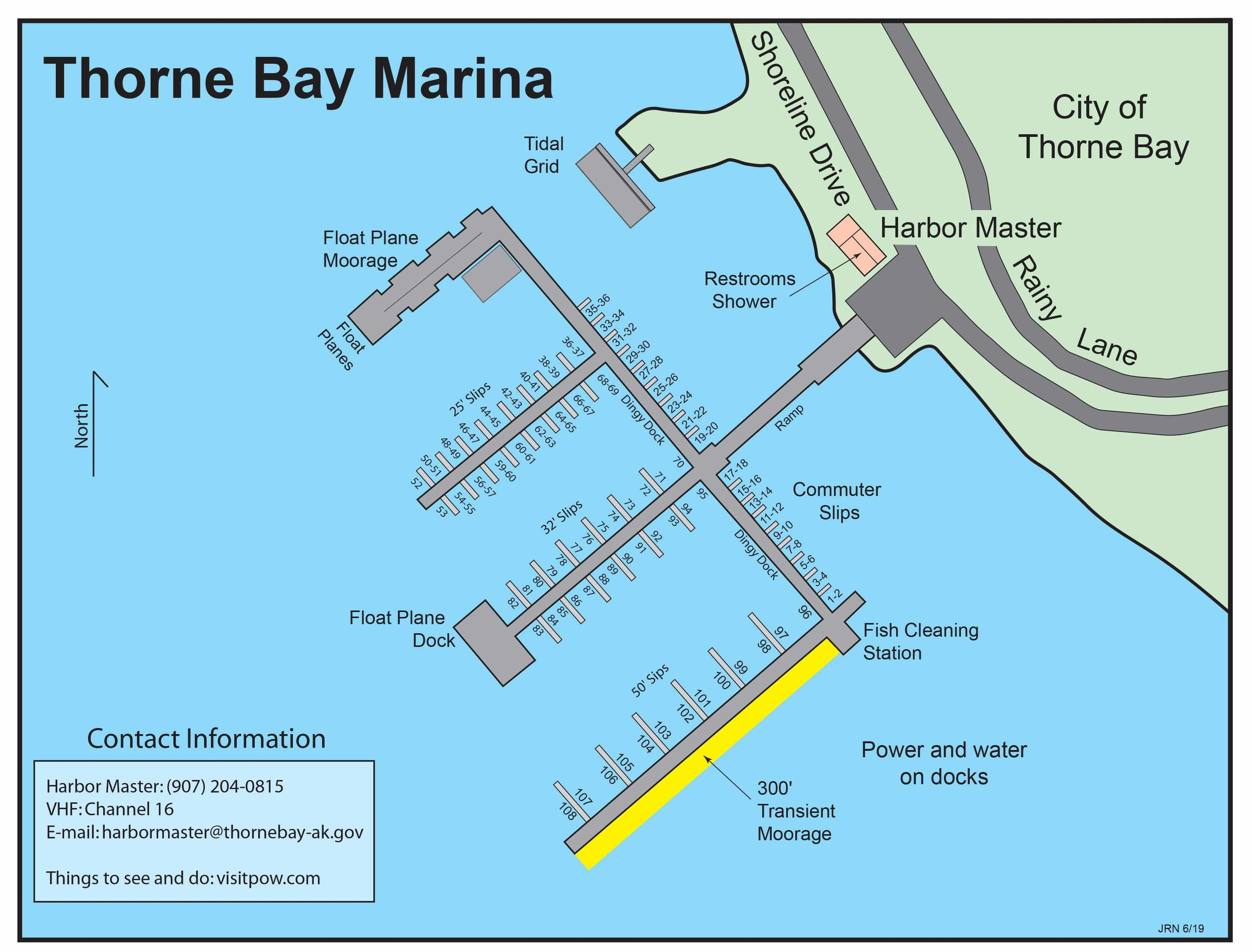 The Thorne Bay Downtown Harbor Map
