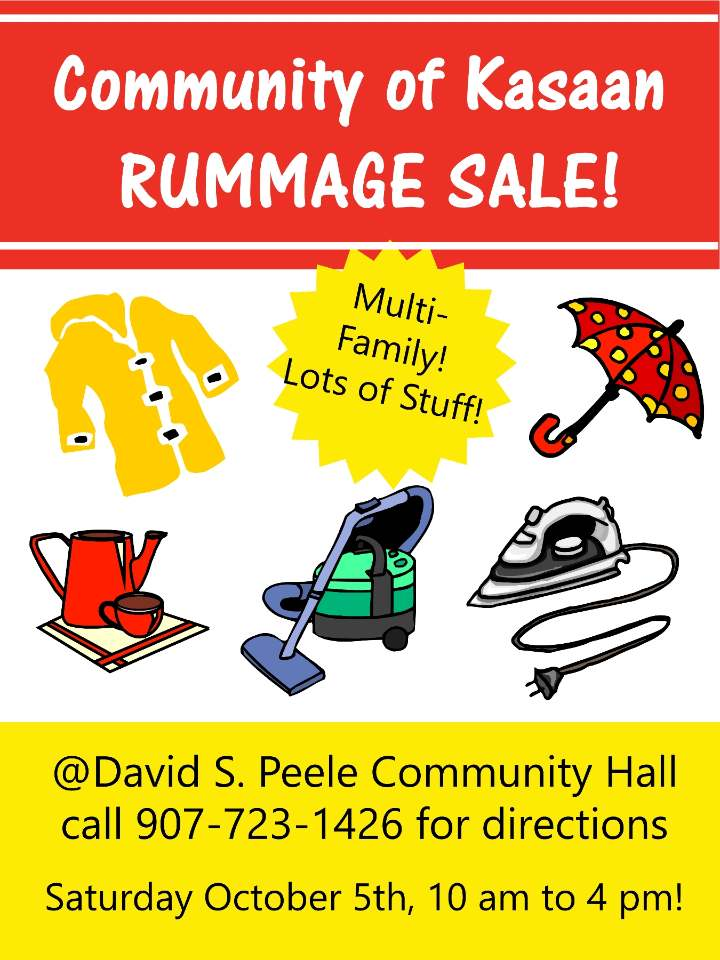Kasaan Rummage Sale