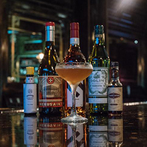 BEGGARS VELVET   • 1.5 oz. Hine Cognac • 1.5 oz. Dolin Dry Vermouth • 1 barspoon Fig jam • 1 dash Chocolate Bitters • 1 dash Angostura Bitters  • 1. Combine all ingredients into a mixing glass over ice and stir until chilled. • 2. Strain into a coupe glass. • 3. Garnish with a sprig of Thyme.