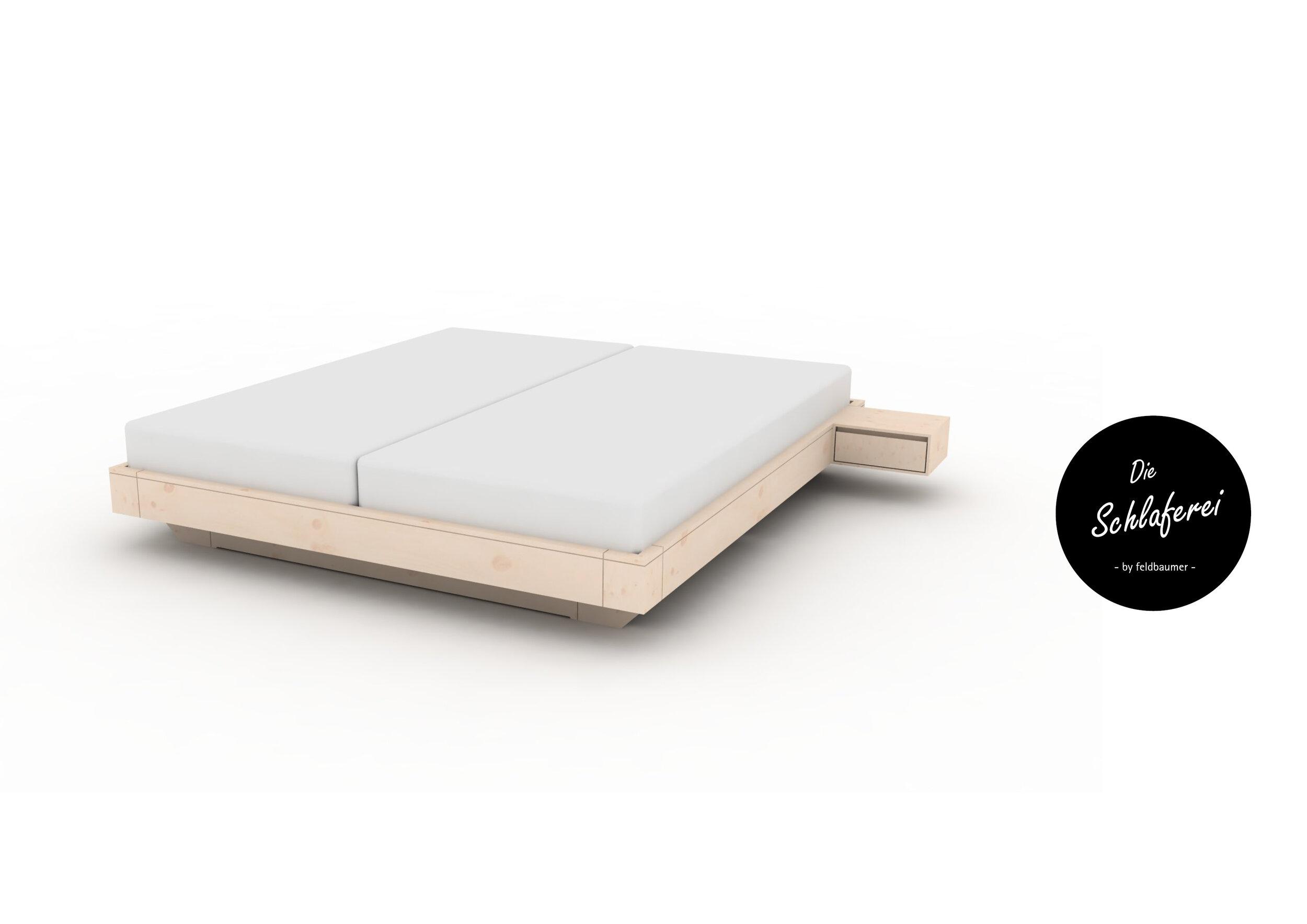 Modell 02 - … ohne Kopfteil mit Nachtkästchen