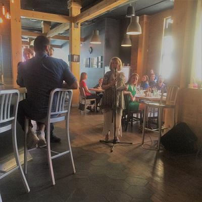 Chantal L'Espérance au Brunch bénéfice pour le Tremplin 16-30 de Sherbrooke