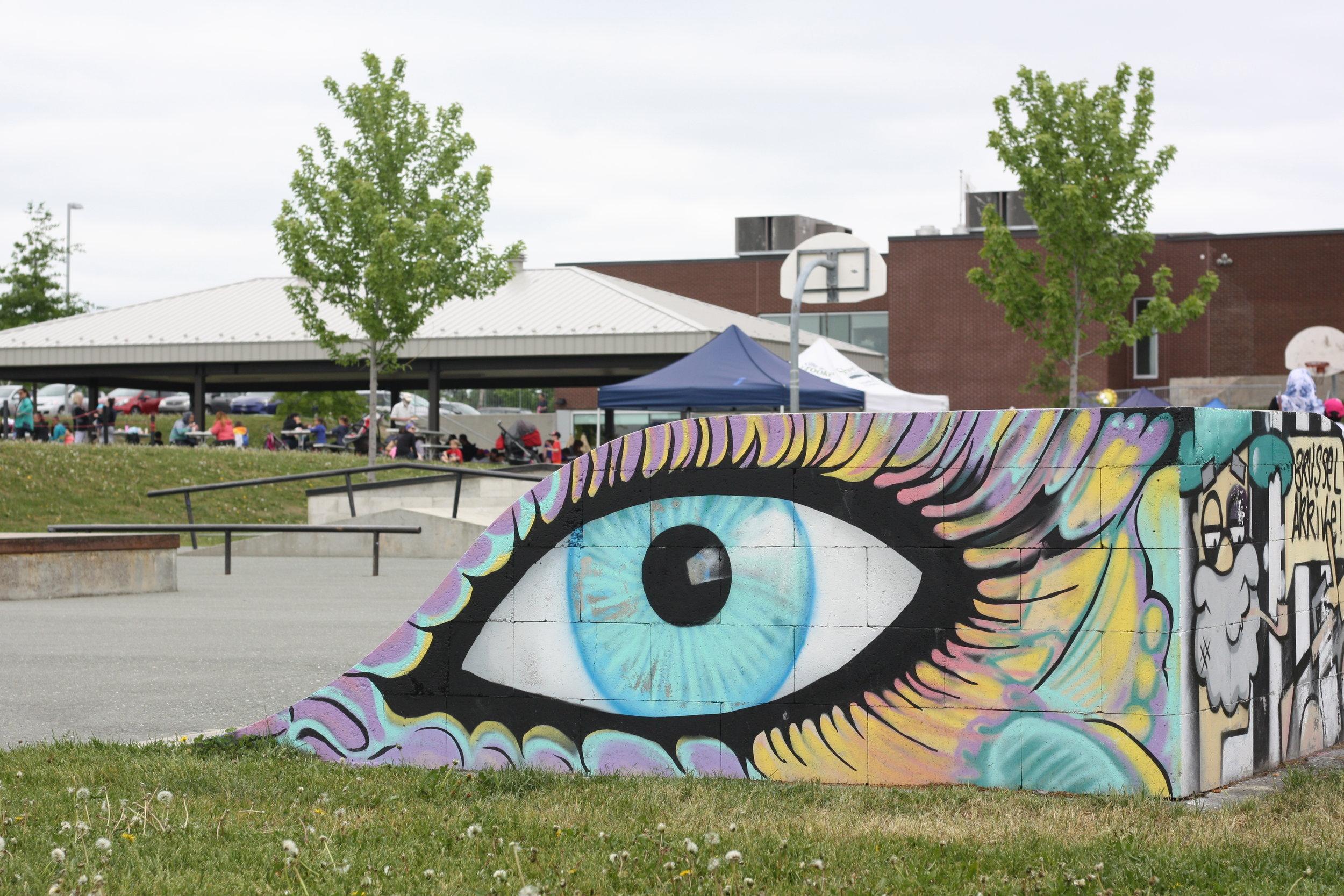 Art urbain à l'école Montcalm de Sherbrooke