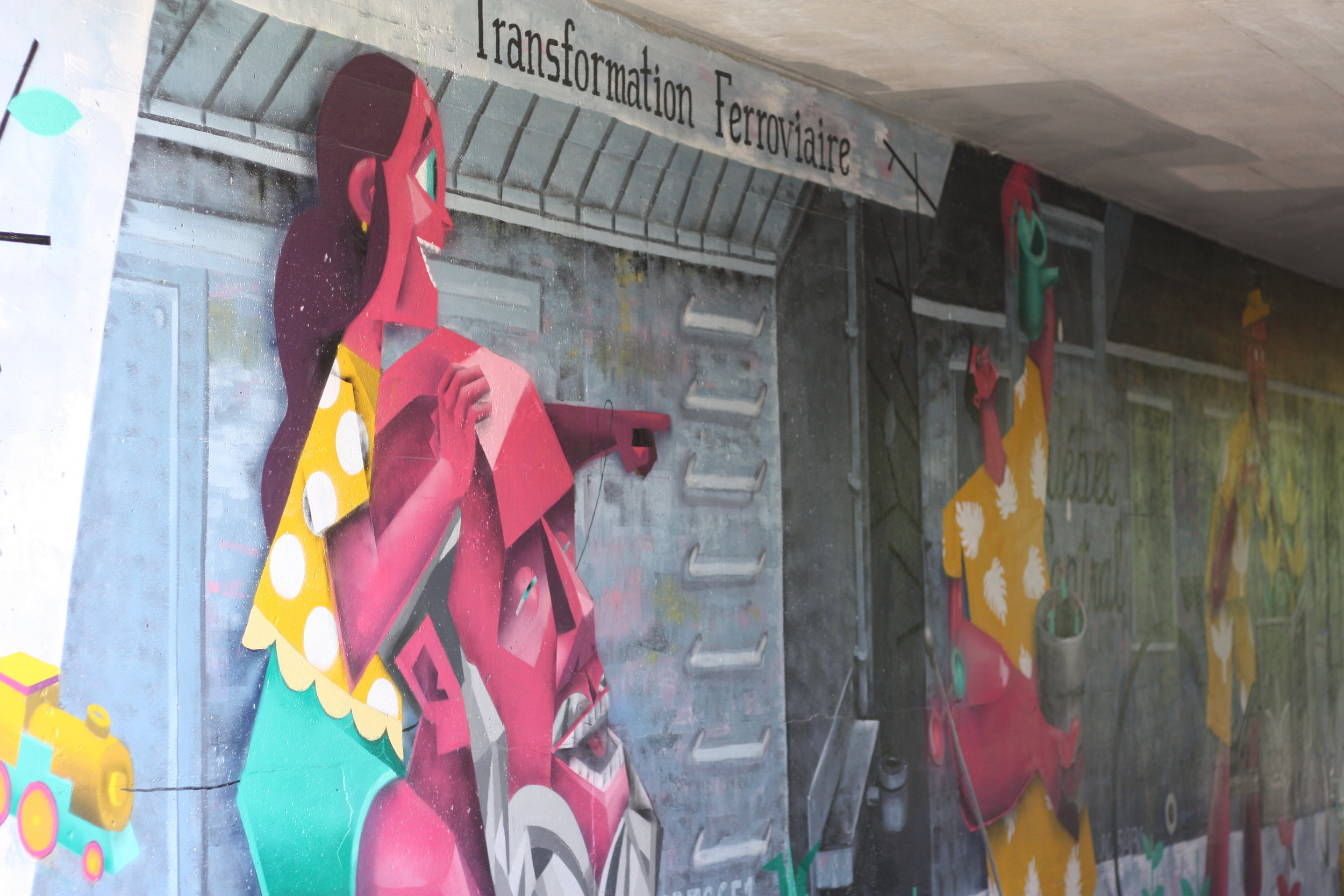 Art urbain près du Marché de la Gare de Sherbrooke
