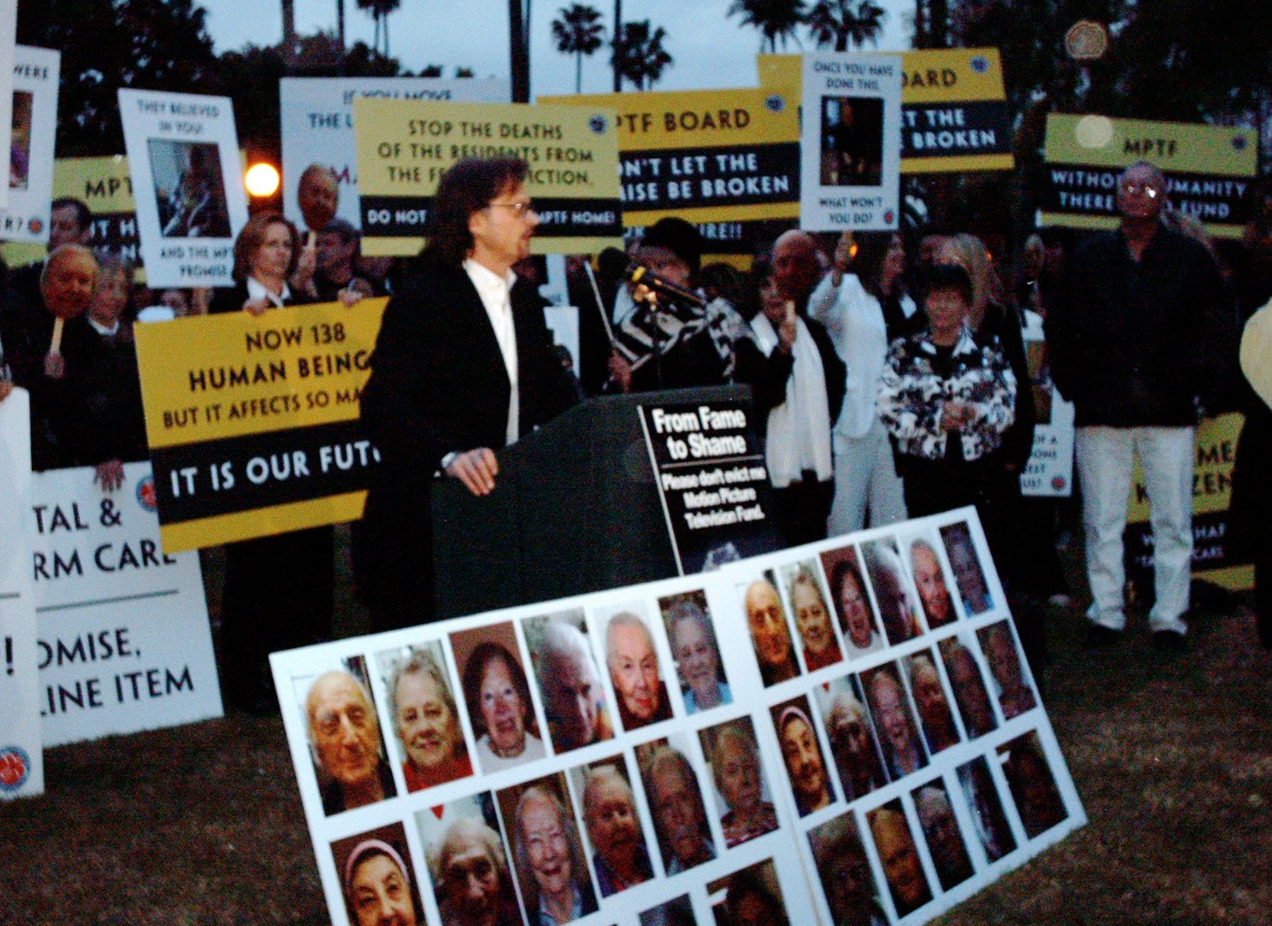 Actor Daniel Quinn at the forefront for the fight for motion picture and television long term care. Our campaign was a classic David and Goliath story. We fought against powerful people in the motion picture industry,and though a tight knit group of grassroots activists - we returned the notion of 'we take care of our own', as well as long term care services.