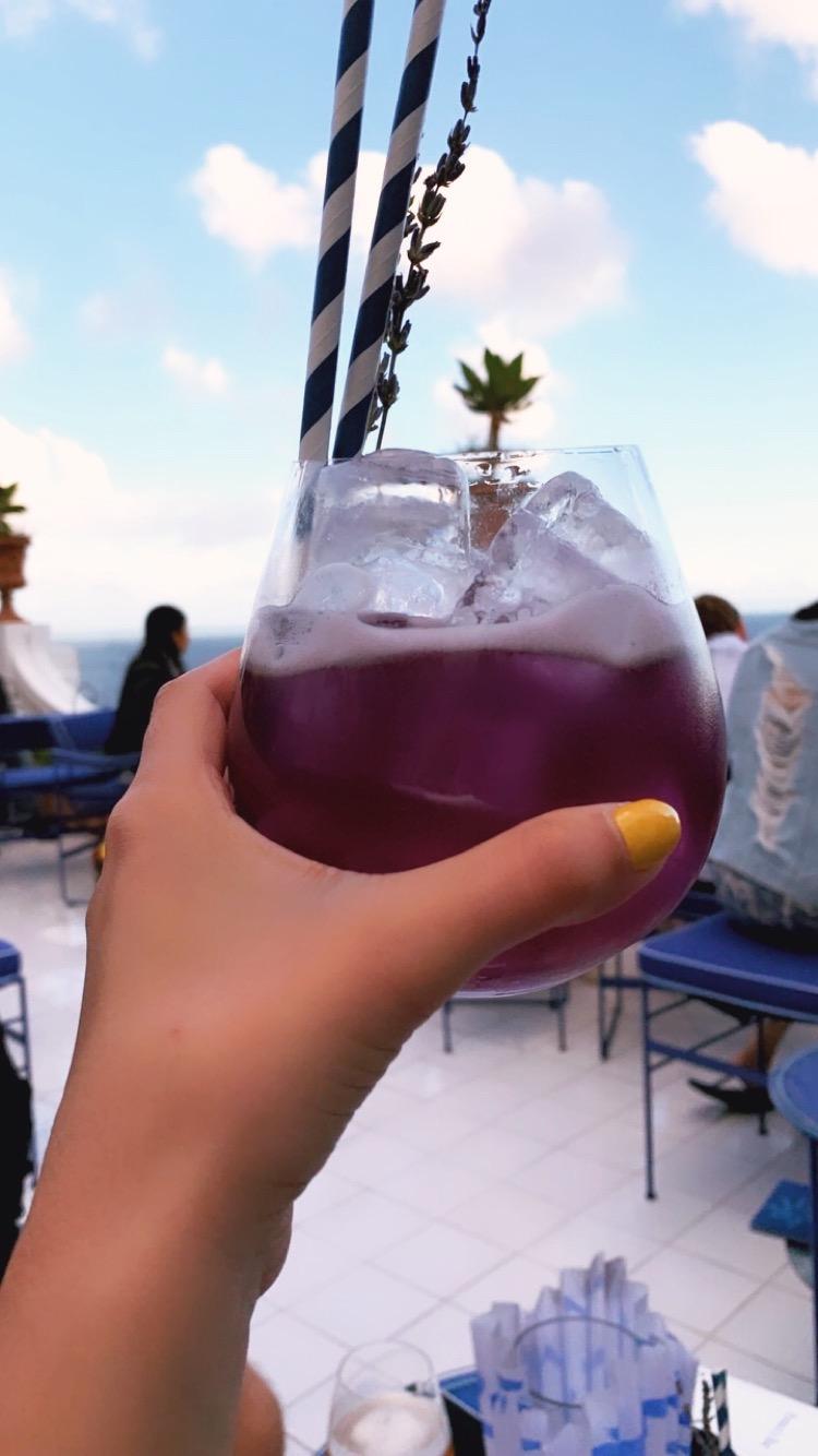Purple Haze drink from  Franco's.