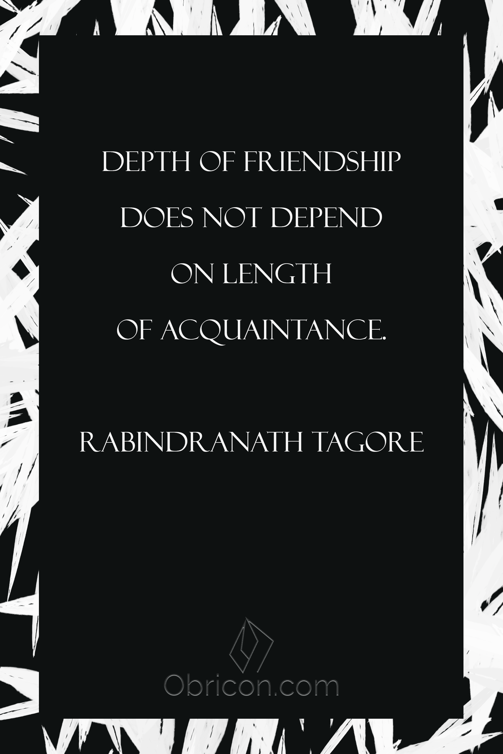 Depth of friendship does not depend on length of acquaintance. Ra.png