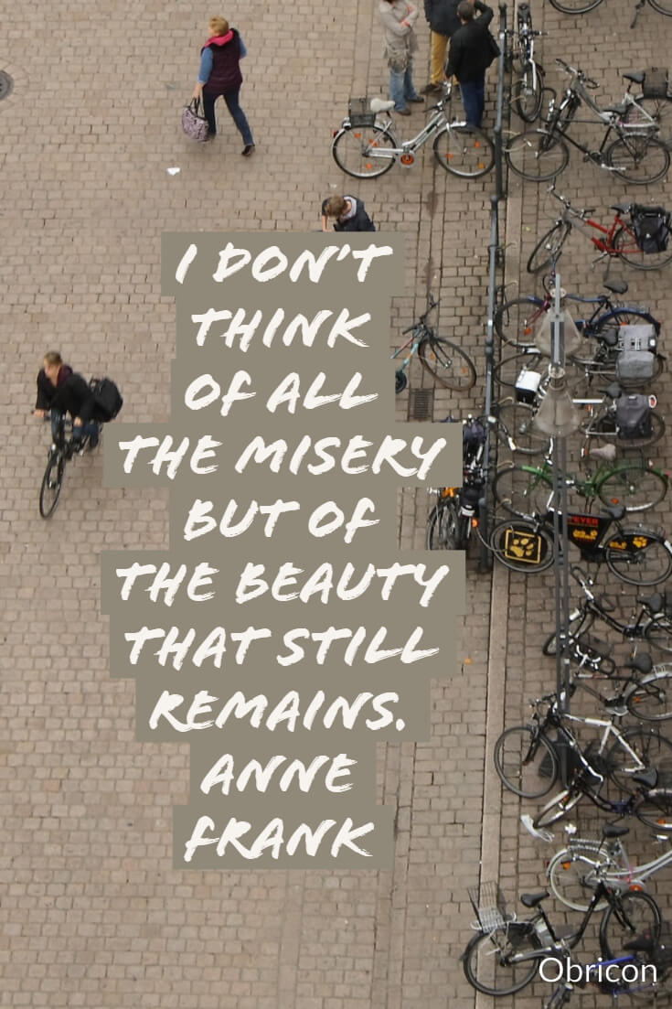 I don't think of all the misery but of the beauty that still remains. Anne Frank.jpg