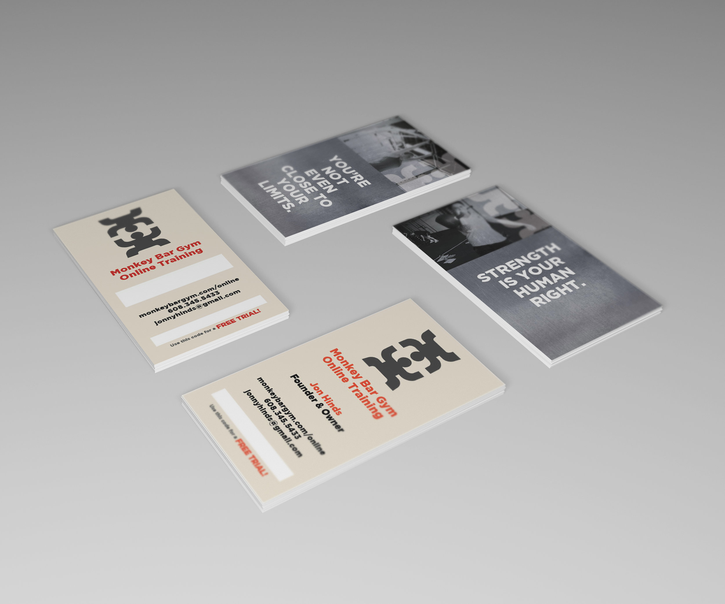 Business Cards for Monkey Bar Gym in Madison, WI