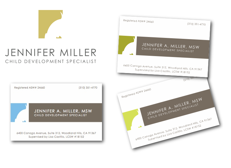 Logo and cards for a social worker in Los Angeles.