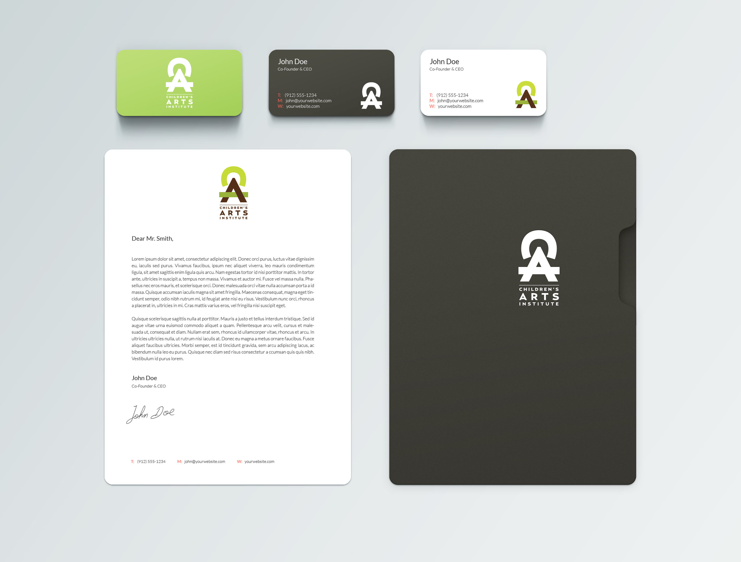 Identity for a children's art camp in Los Angeles