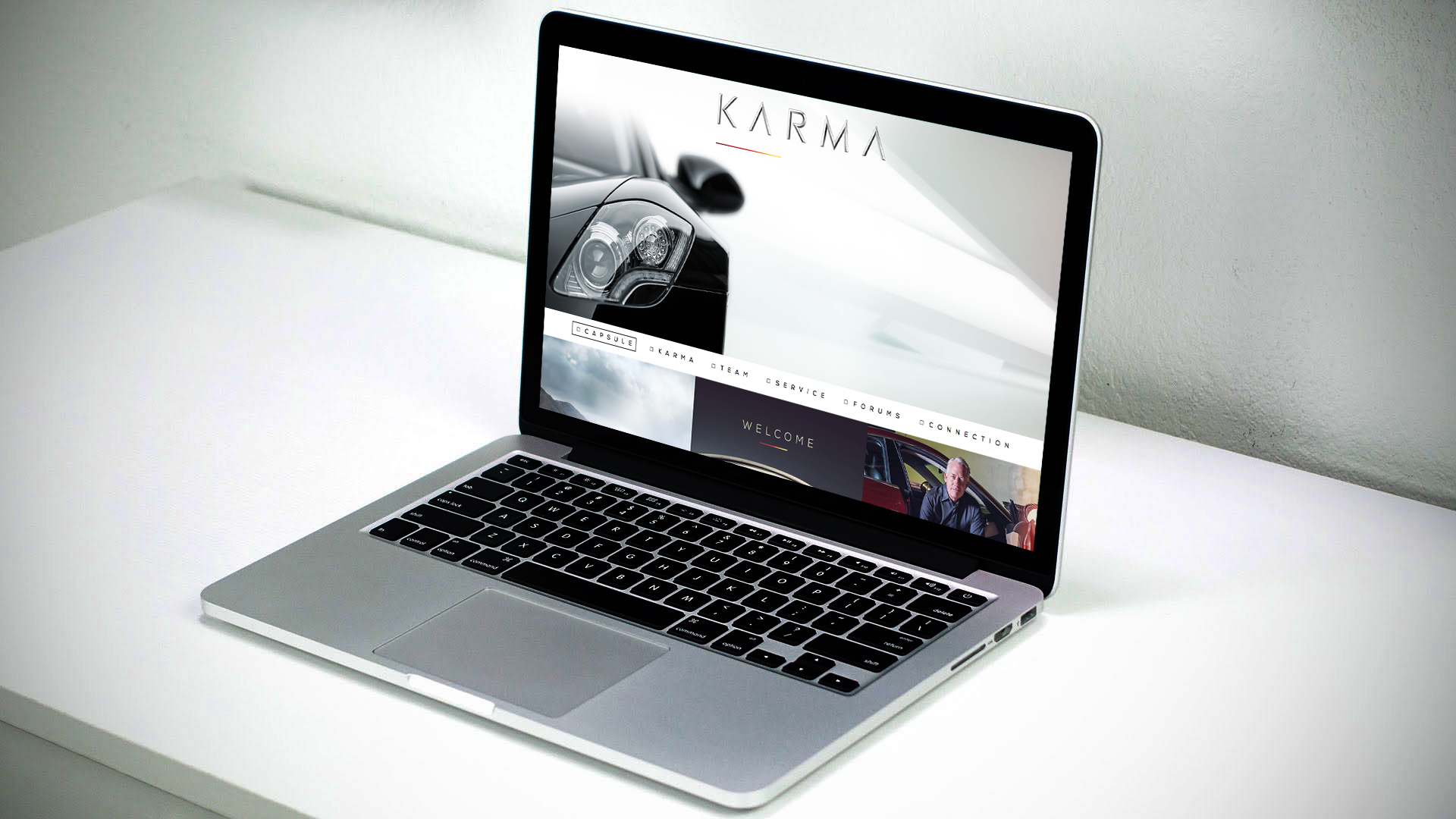Naming, new identity and website for a luxury electric car maker.