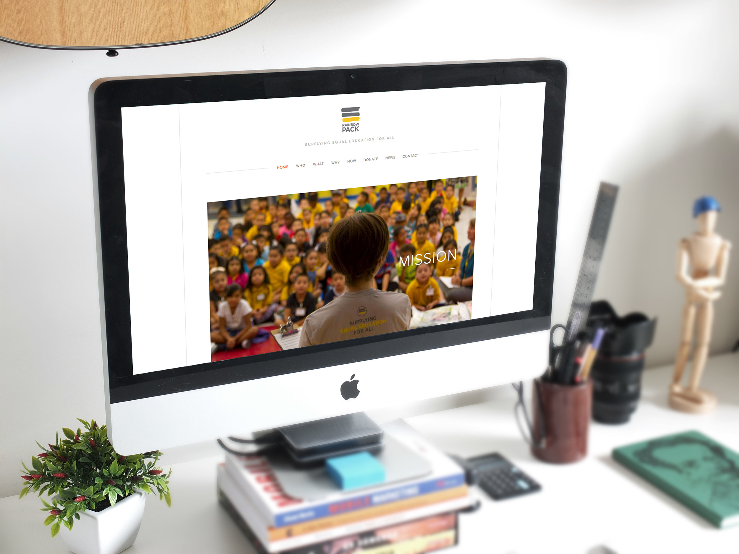 Website for a youth-led charity serving the elementary school students of LAUSD.