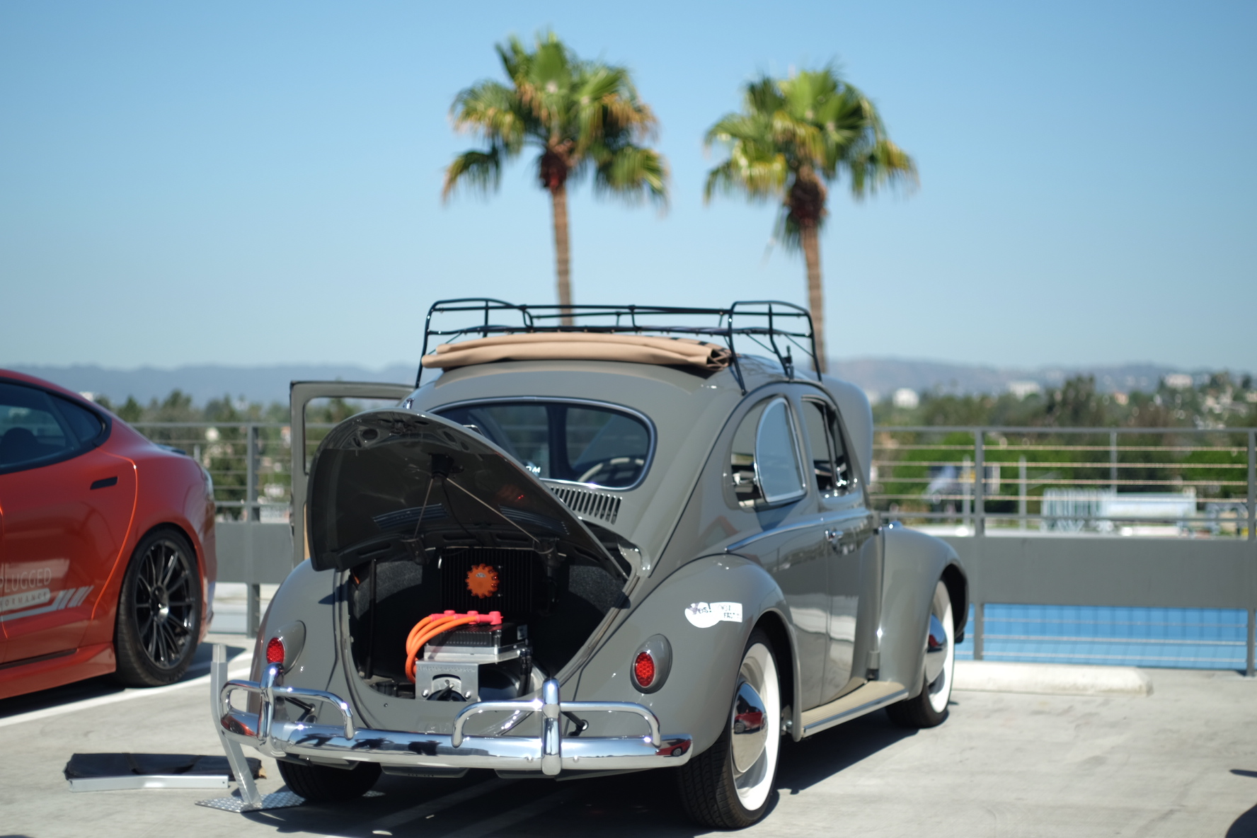 David B. Zelectric Motors 1958 Volkswagen Bug Rag Rop - EV Conversion