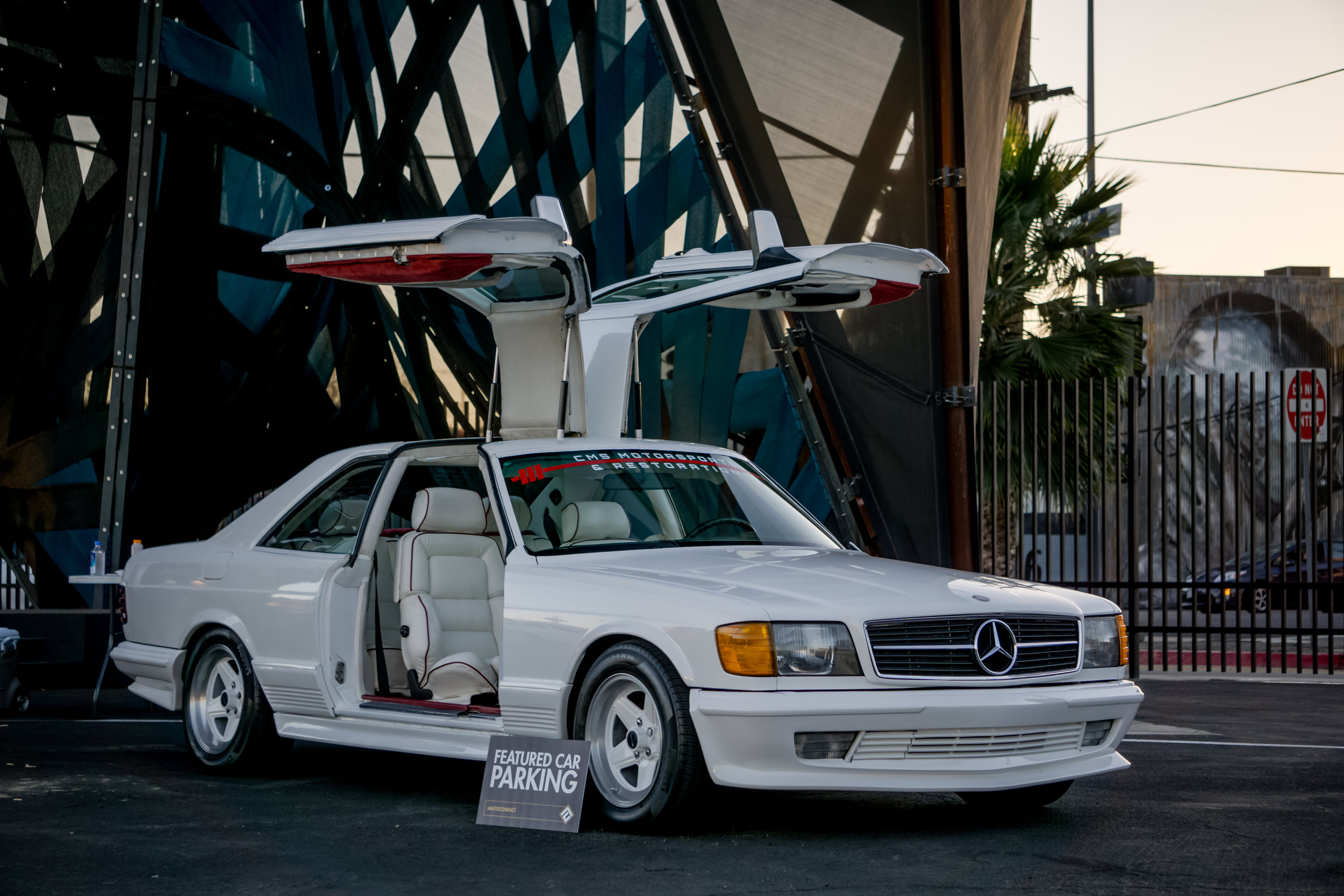 Shant at CMS Motorsports Mercedes 500 SEC Gull Wing