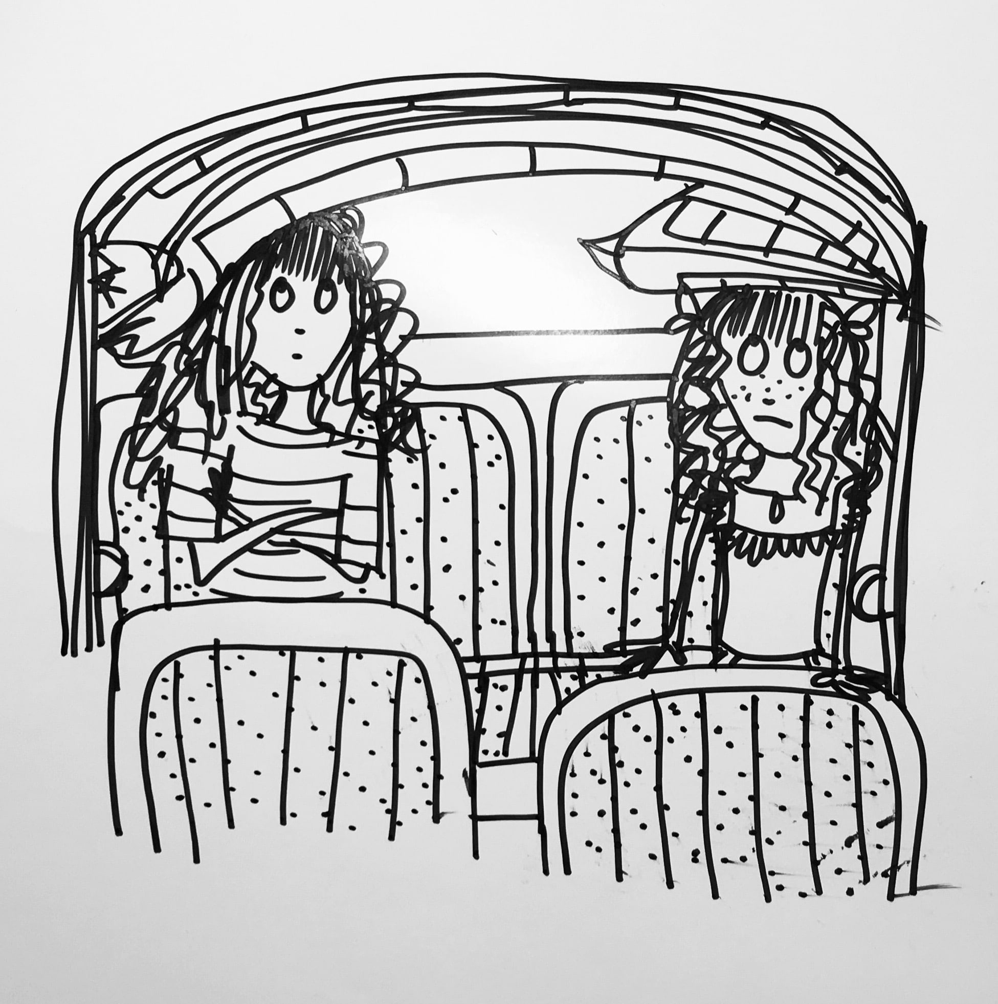 - 'Dad, is it normal to travel to the beach with the lilo already inflated and wedged on our heads in the car?''Yes. Everyone does it.'