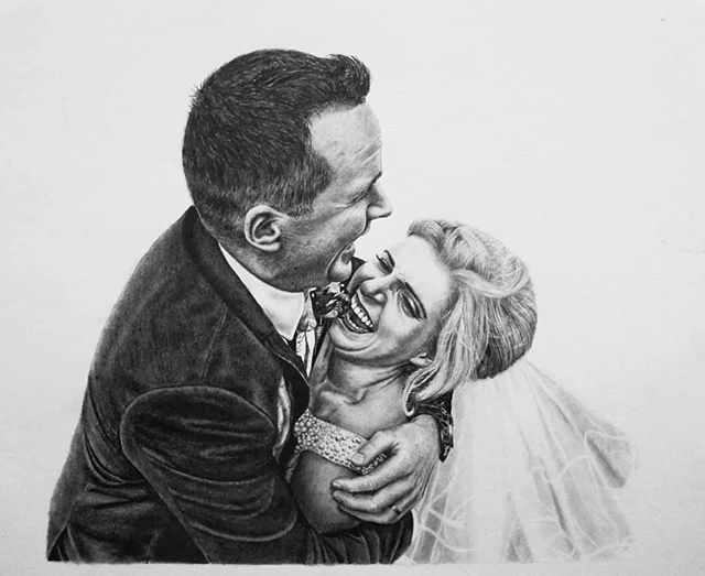 Here's a recent wedding commission that I loved working on, especially because the reference photo was natural and not posed. 💒 I've been working on a lot of couple portraits lately and have been learning a lot of new techniques to improve the details.  This is probably one of my most detailed drawings to date.  Thanks so much Maura Kearney Jones for trusting me with this special commission 😊  I'm slowly getting becoming booked up for Christmas but still have a few slots left. If anyone is interested in a personalised drawing contact me here on Facebook, by email, finn.harper.artwork@gmail.com or www.finnharperartwork.com.  Thanks all 😉 . . .  #finnharperartwork #drawing #pencil #artwork #commission #portrait #irish #pencildrawing #musician #irishartist #irishartistsofinstagram #irishart #ireland #irishmusician #wedding #engagement #couple #engaged #weddingideas #giftideas #giftideasforher #personalisedportrait #love #inlove #instaart #instagood #wedding #engagement #couple #engaged