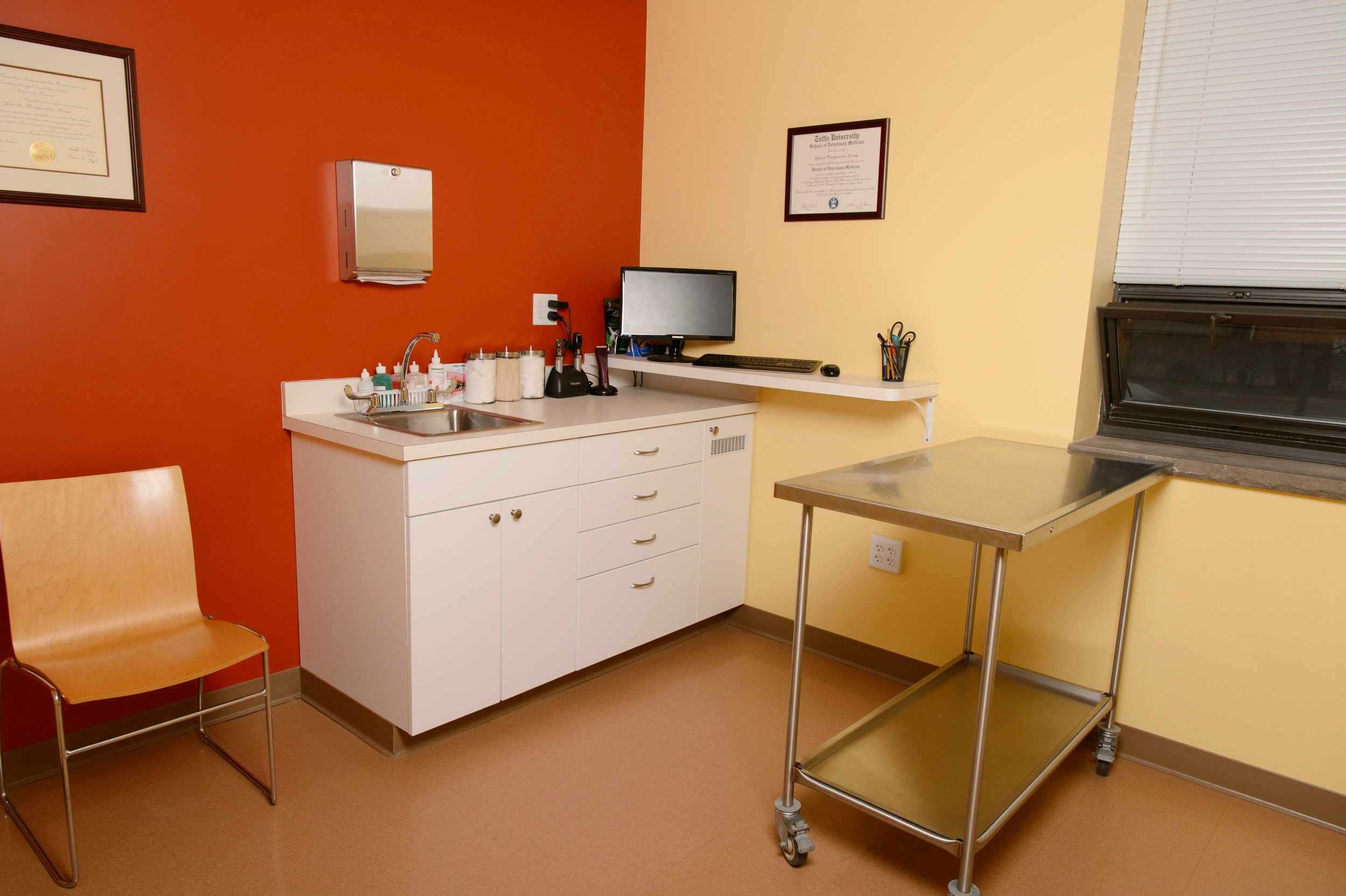 Our exam rooms are spacious, comfortable, and fully equipped