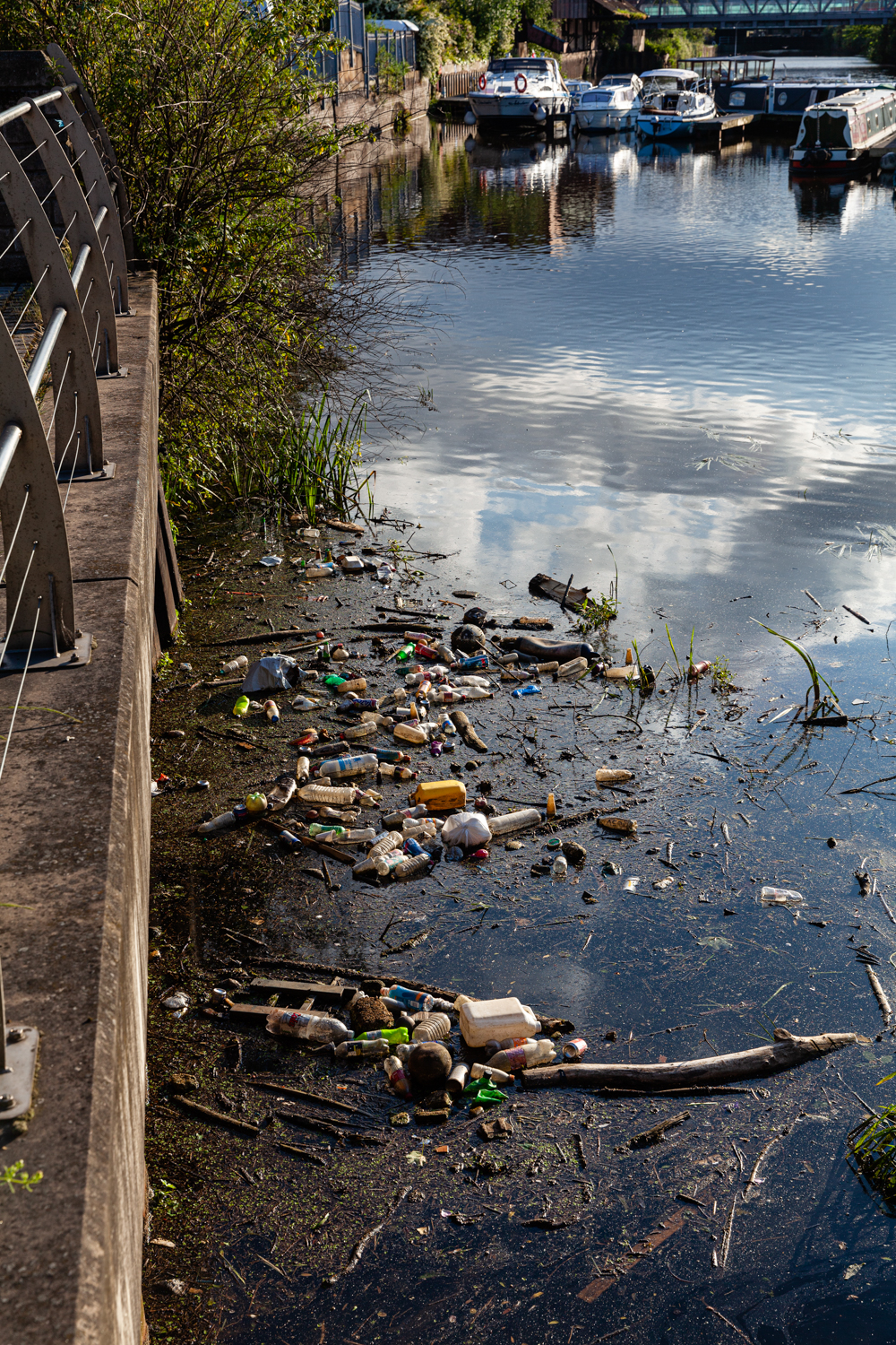 Some of the rubbish in the canal in Doncaster.